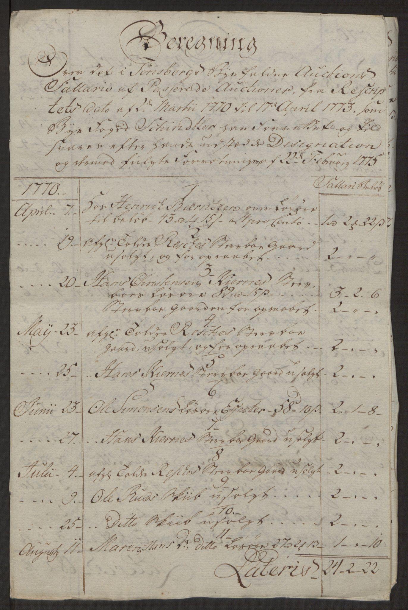 RA, Rentekammeret inntil 1814, Reviderte regnskaper, Byregnskaper, R/Rh/L0162: [H4] Kontribusjonsregnskap, 1762-1772, s. 471