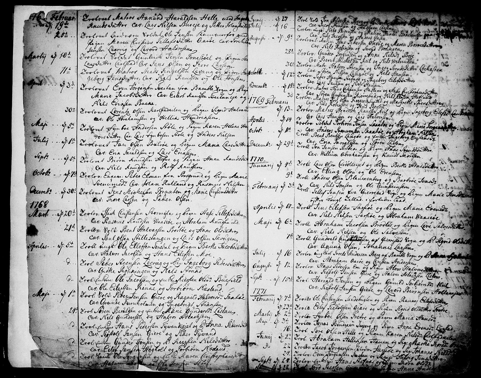 SAKO, Sannidal kirkebøker, F/Fa/L0002: Ministerialbok nr. 2, 1767-1802, s. 2