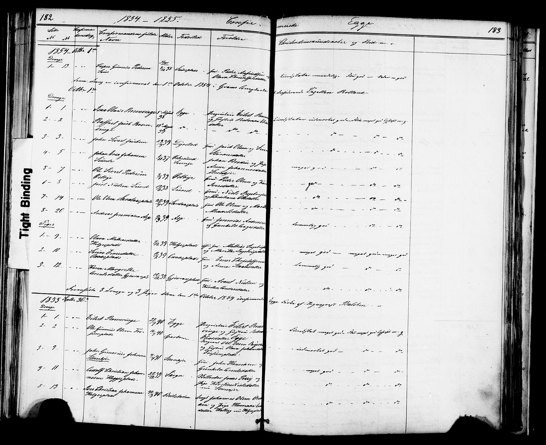SAT, Ministerialprotokoller, klokkerbøker og fødselsregistre - Nord-Trøndelag, 739/L0367: Ministerialbok nr. 739A01 /3, 1838-1868, s. 182-183