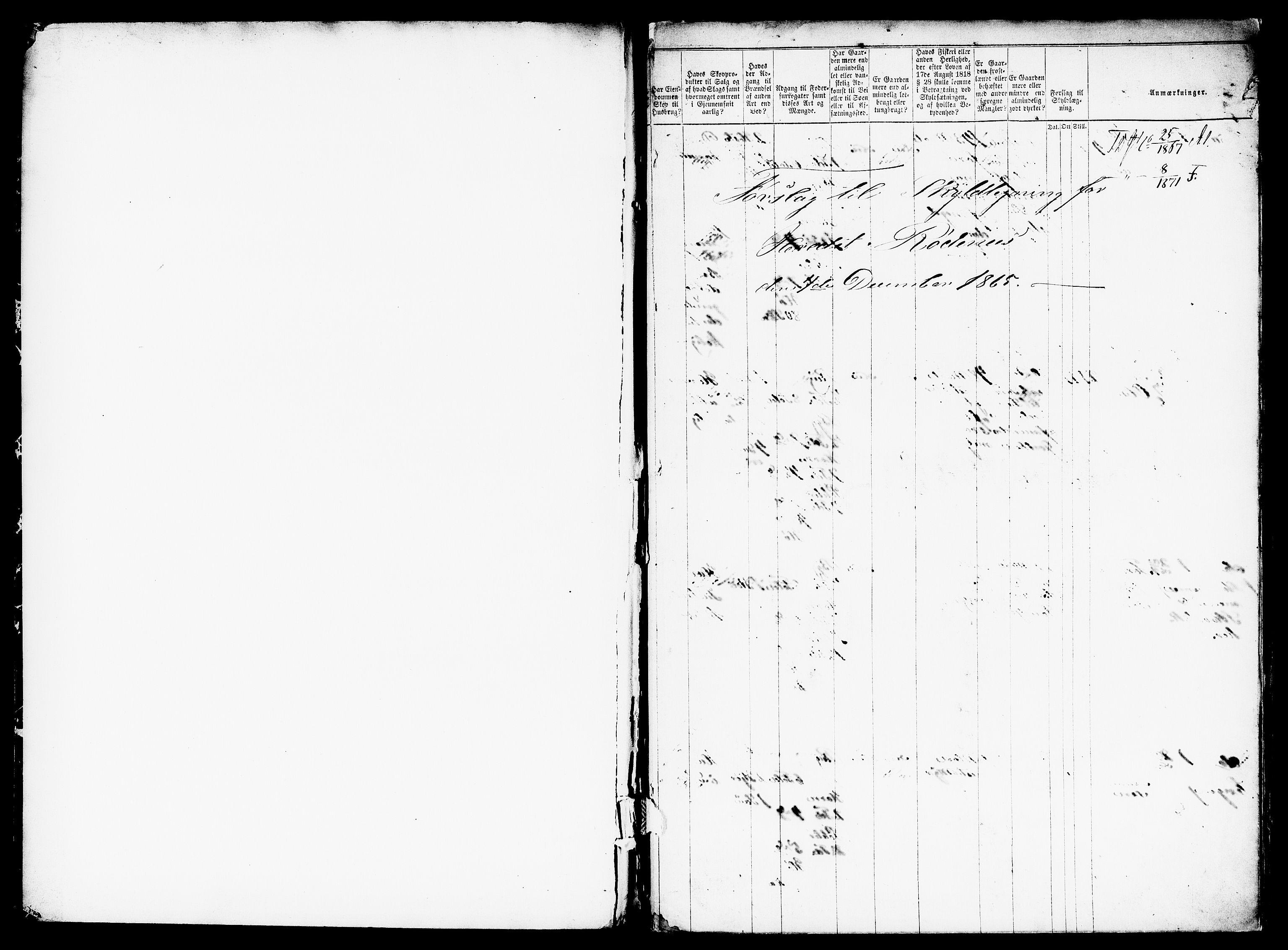RA, Matrikkelrevisjonen av 1863, F/Fe/L0007: Rødnes (Rørskogen), 1863