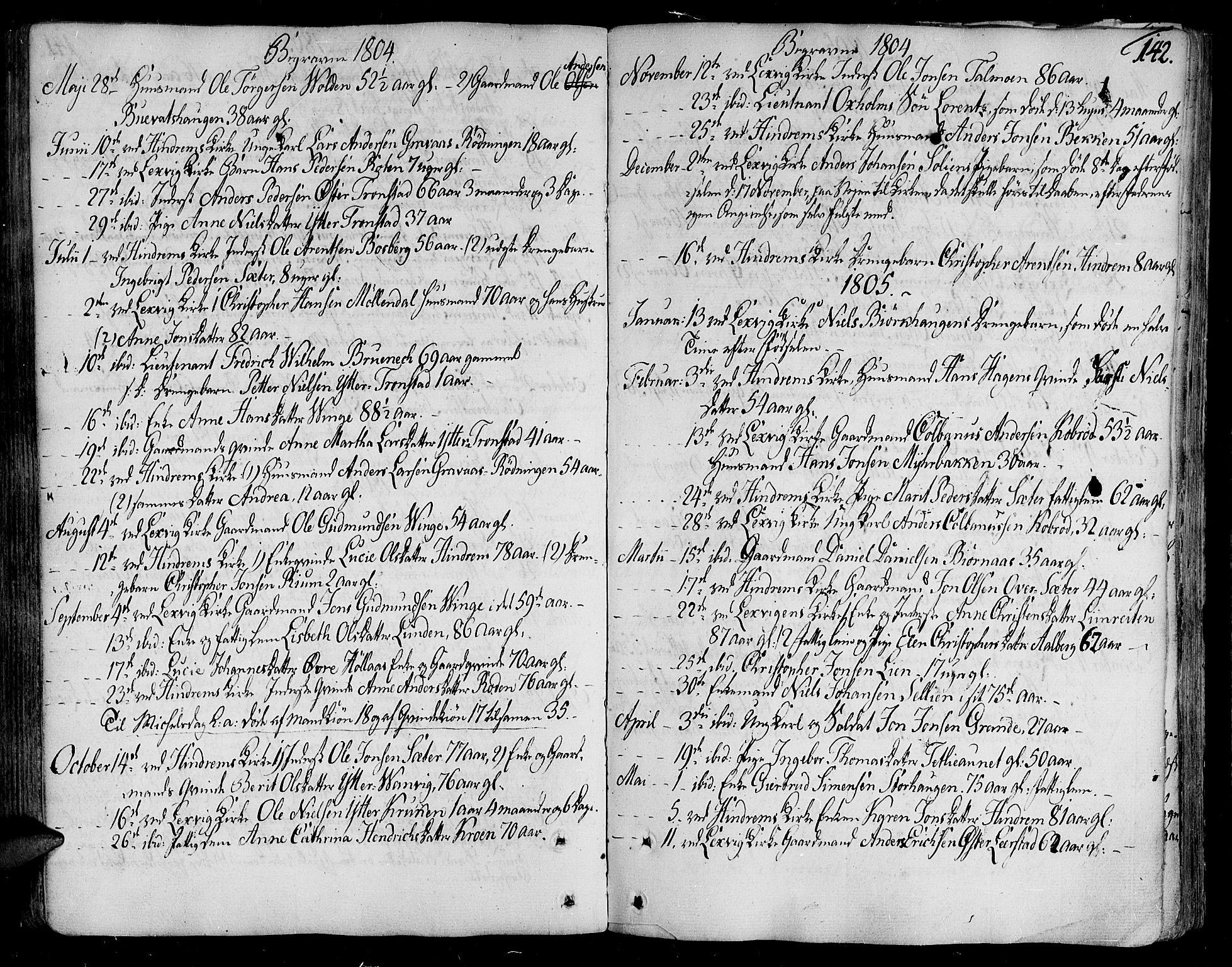 SAT, Ministerialprotokoller, klokkerbøker og fødselsregistre - Nord-Trøndelag, 701/L0004: Ministerialbok nr. 701A04, 1783-1816, s. 142
