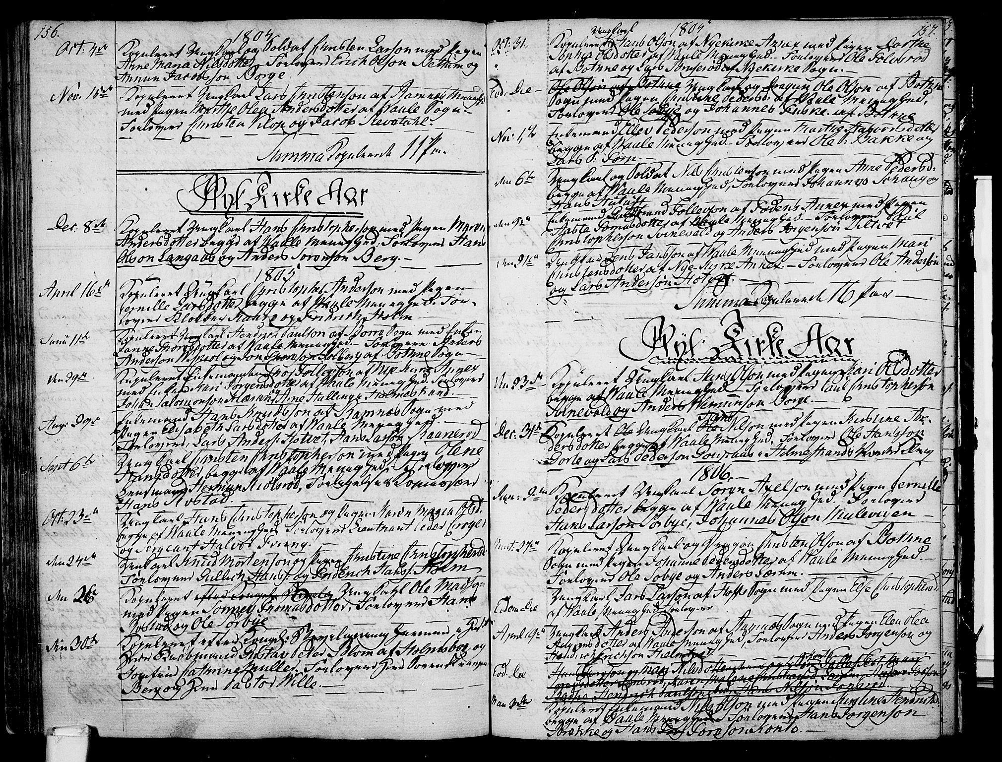 SAKO, Våle kirkebøker, F/Fa/L0005: Ministerialbok nr. I 5, 1773-1808, s. 156-157