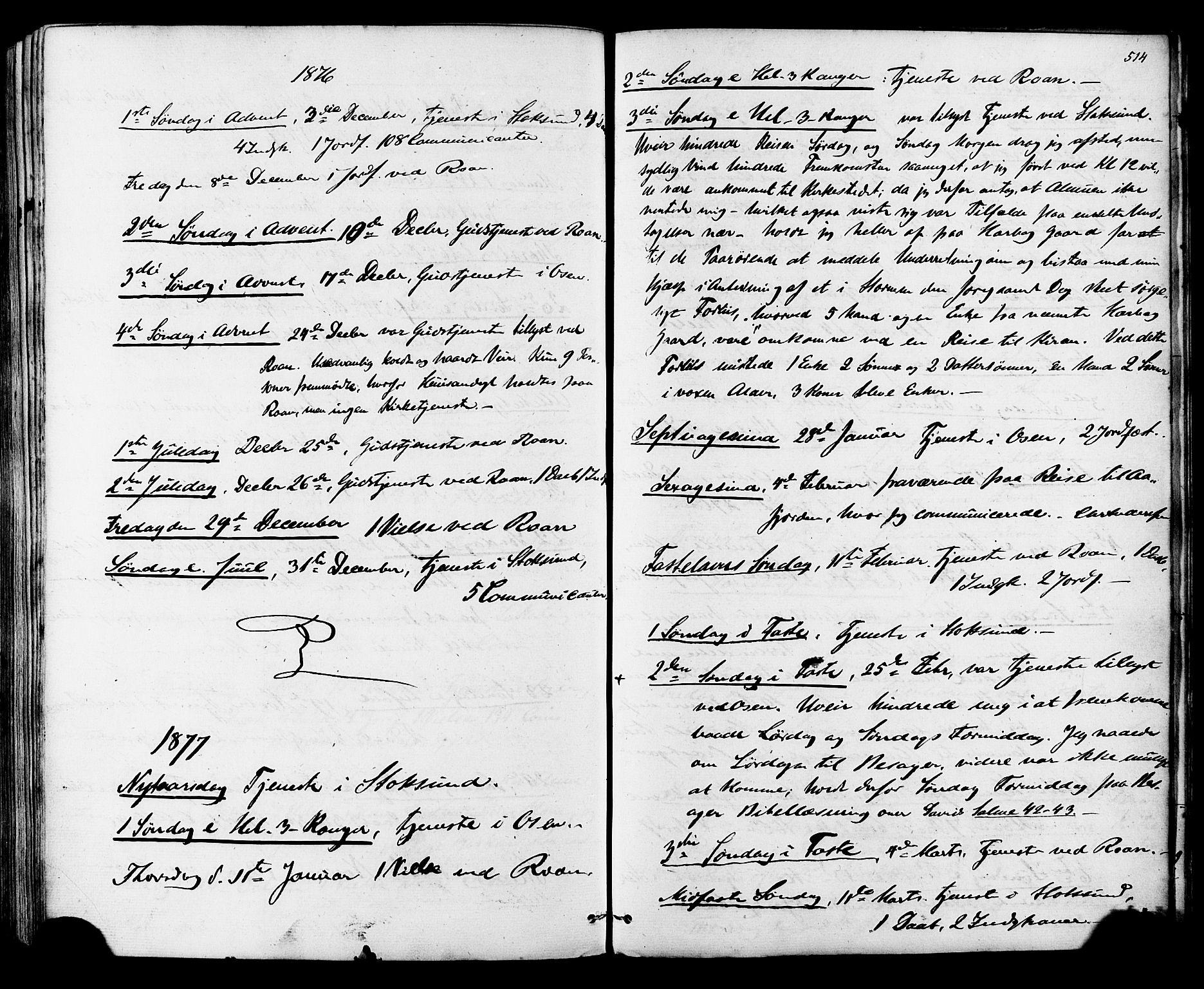 SAT, Ministerialprotokoller, klokkerbøker og fødselsregistre - Sør-Trøndelag, 657/L0706: Ministerialbok nr. 657A07, 1867-1878, s. 514