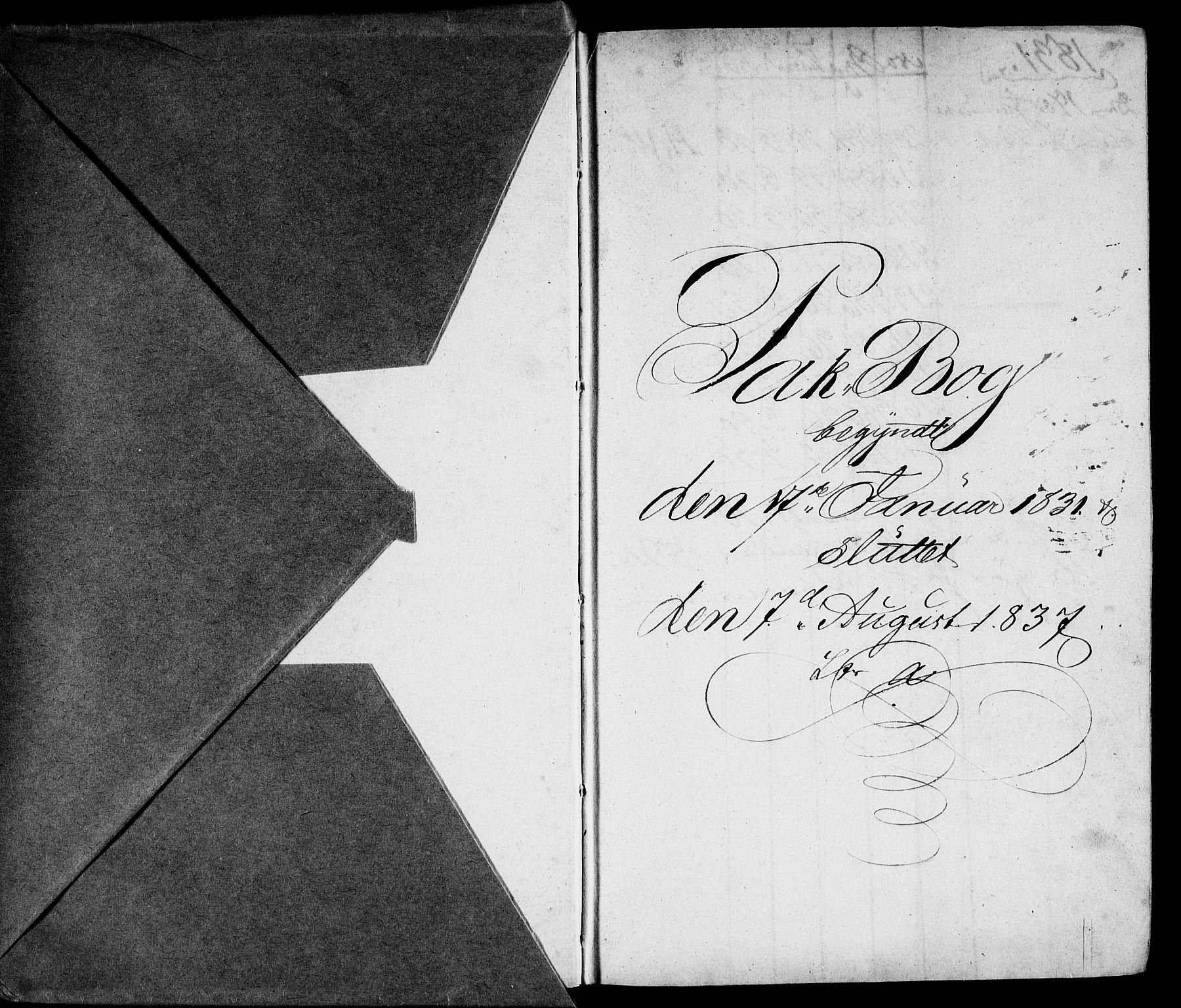 RA, Modums Blaafarveværk, G/Gd/Gda/L0183, 1831-1837, s. 2