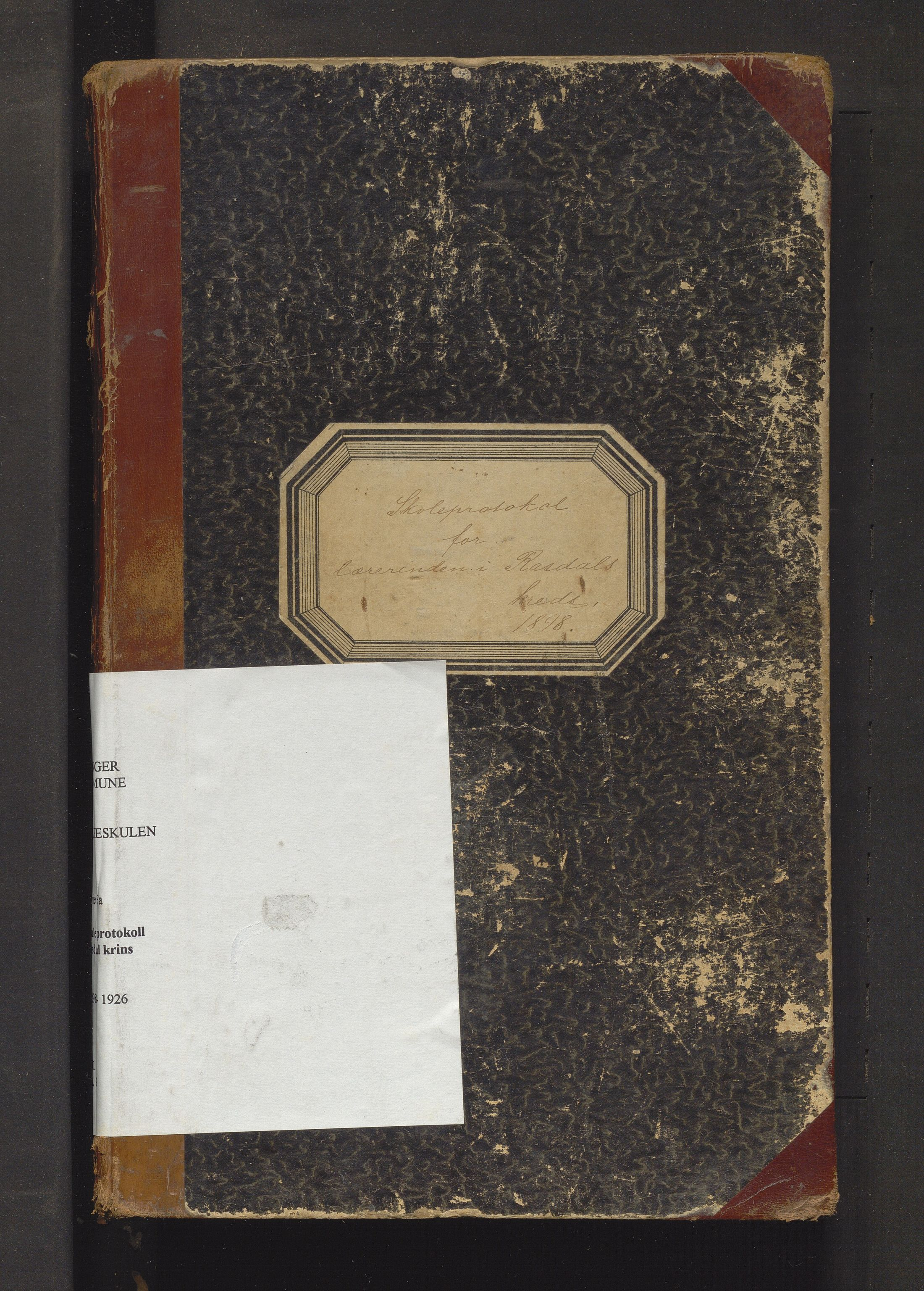 IKAH, Evanger kommune. Barneskulane, F/Fa/L0009: Skuleprotokoll for Rasdal krins, 1898-1926