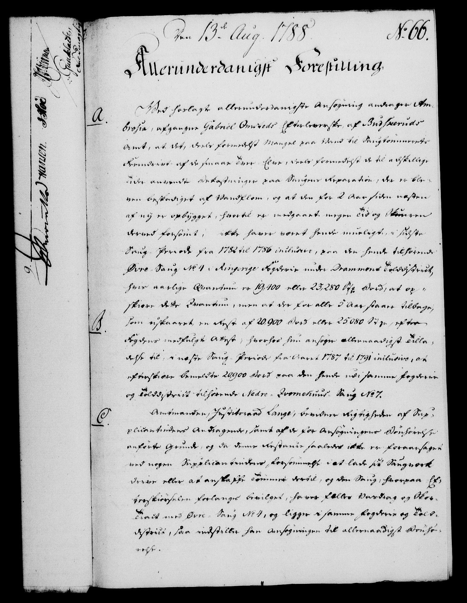 RA, Rentekammeret, Kammerkanselliet, G/Gf/Gfa/L0070: Norsk relasjons- og resolusjonsprotokoll (merket RK 52.70), 1788, s. 417