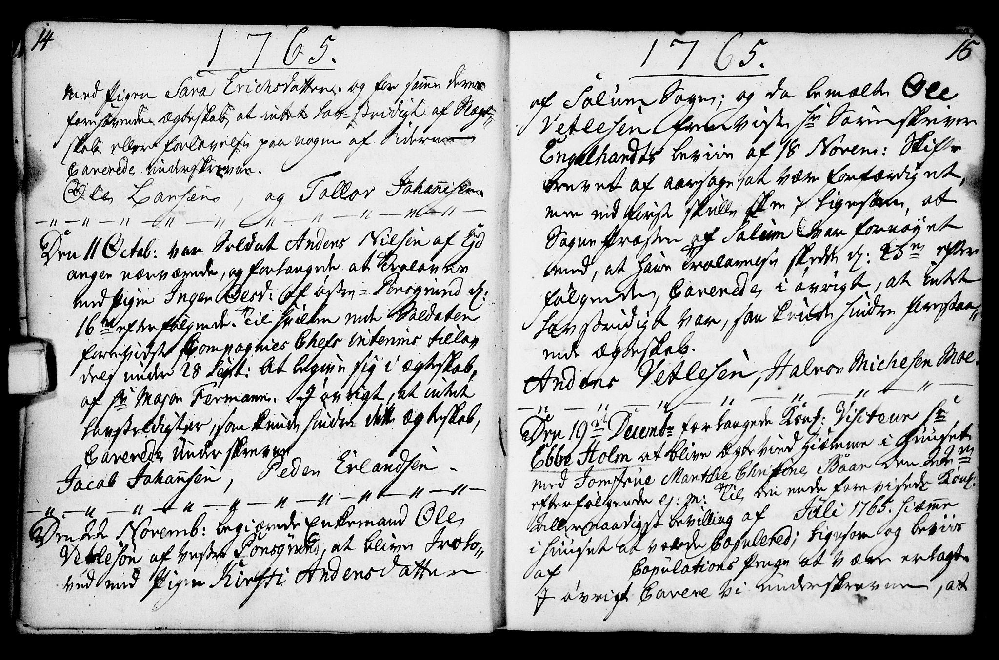 SAKO, Porsgrunn kirkebøker , F/Fa/L0003: Ministerialbok nr. 3, 1764-1814, s. 14-15