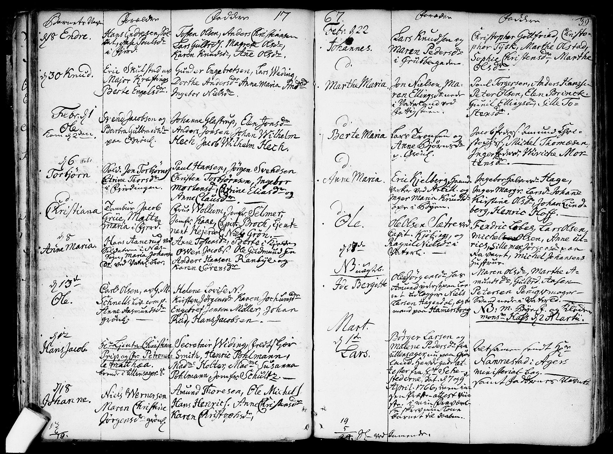 SAO, Garnisonsmenigheten Kirkebøker, F/Fa/L0002: Ministerialbok nr. 2, 1757-1776, s. 39