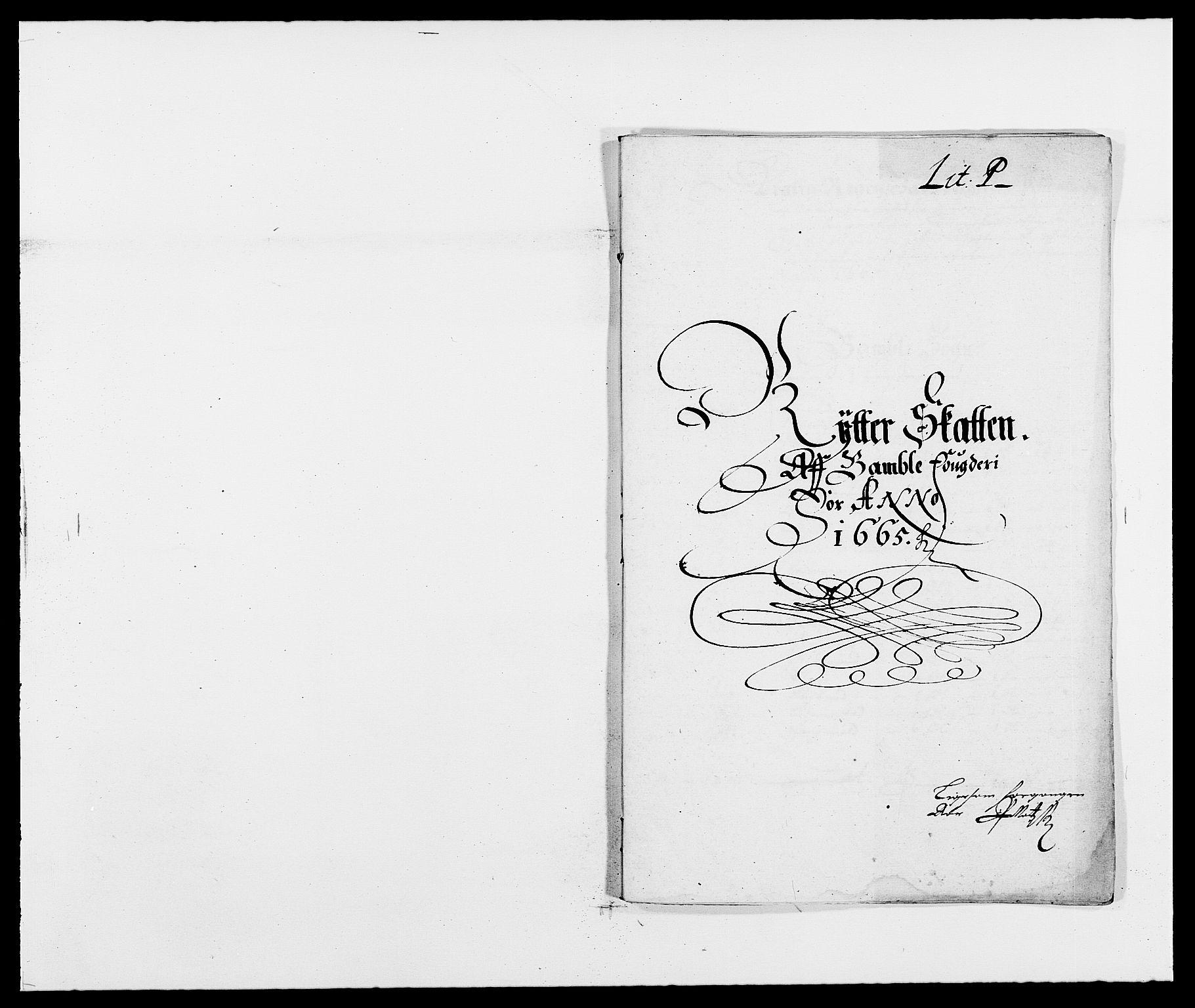 RA, Rentekammeret inntil 1814, Reviderte regnskaper, Fogderegnskap, R34/L2038: Fogderegnskap Bamble, 1662-1669, s. 222