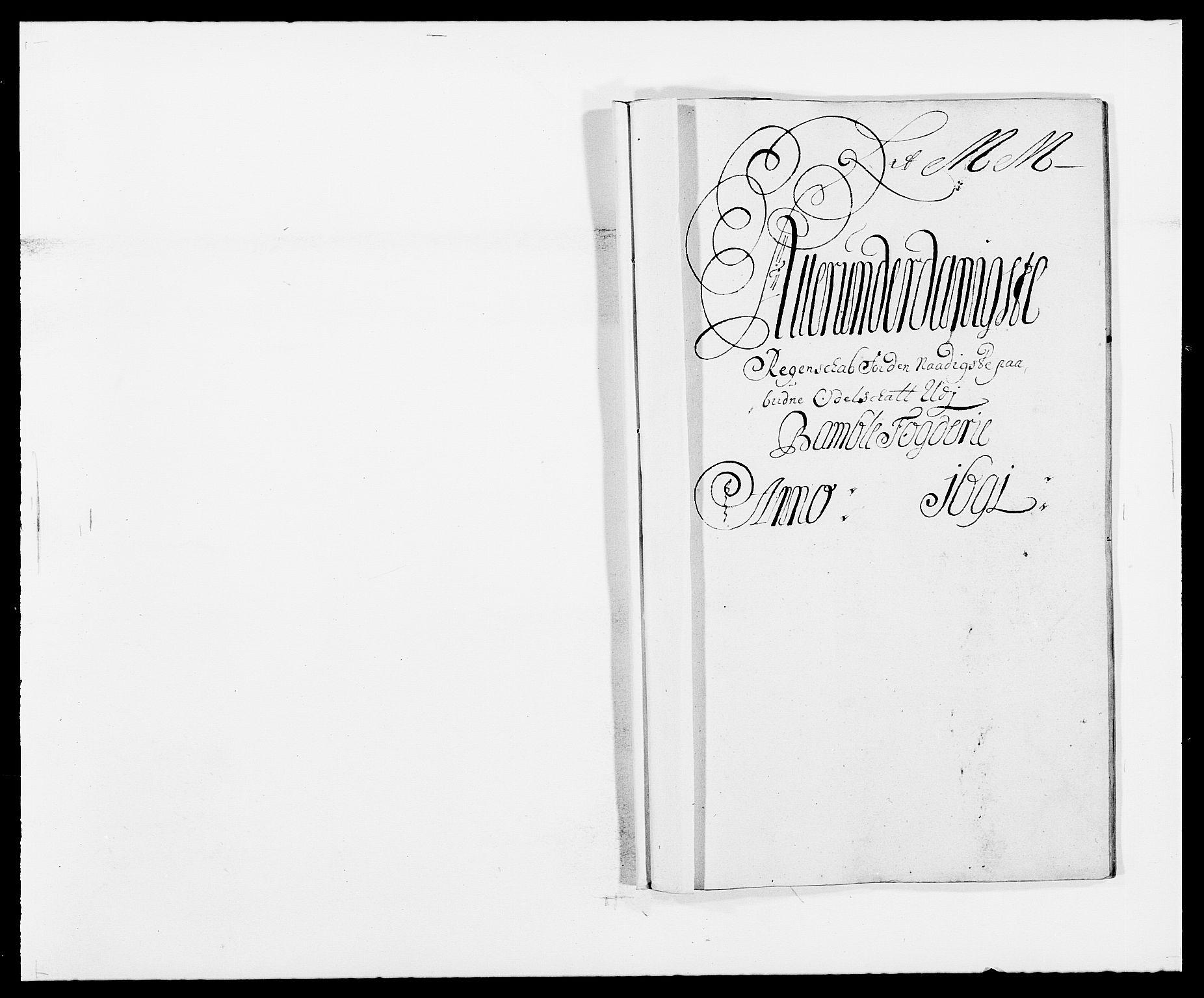 RA, Rentekammeret inntil 1814, Reviderte regnskaper, Fogderegnskap, R34/L2051: Fogderegnskap Bamble, 1688-1691, s. 210