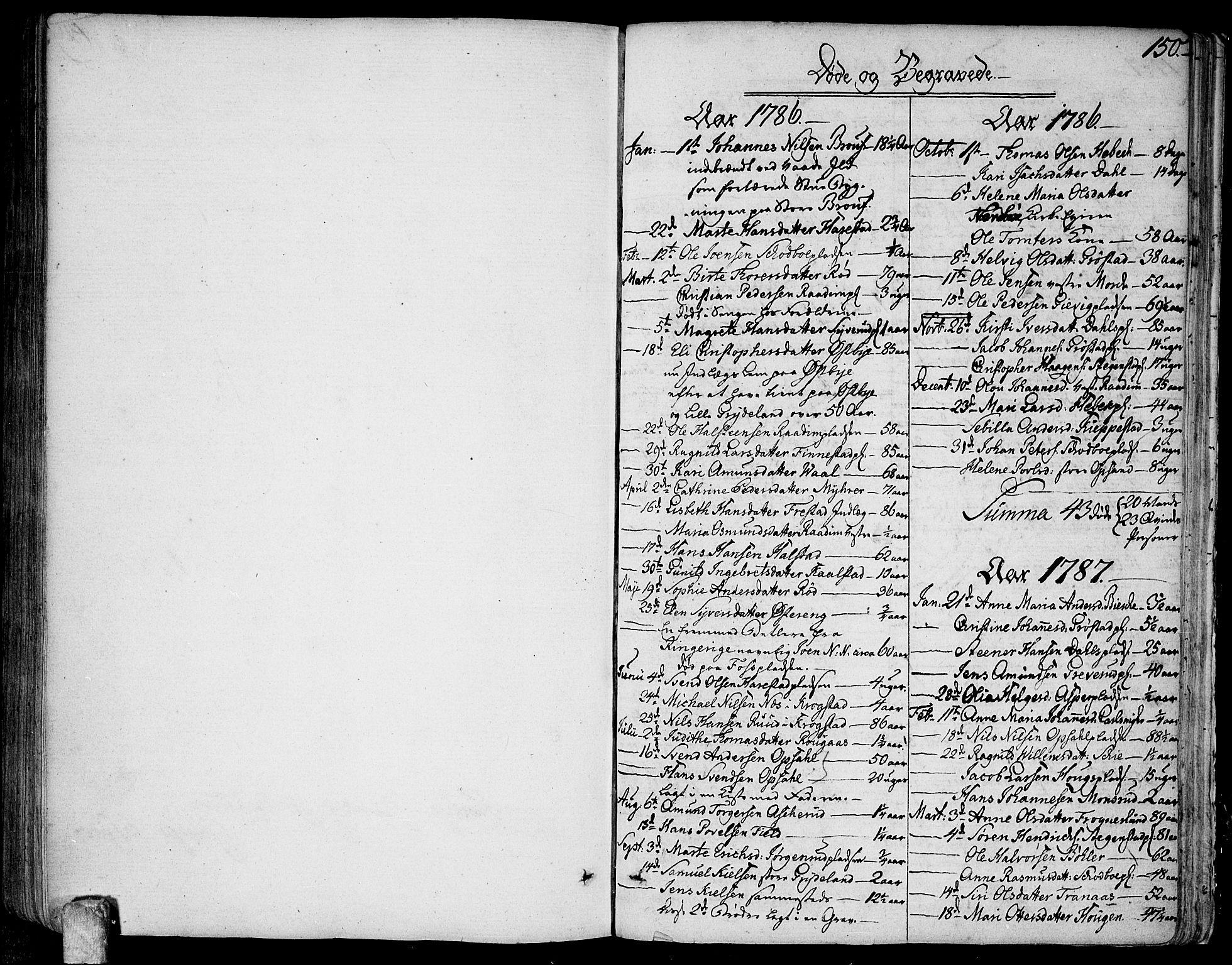 SAO, Kråkstad prestekontor Kirkebøker, Ministerialbok nr. I 2, 1786-1814, s. 150