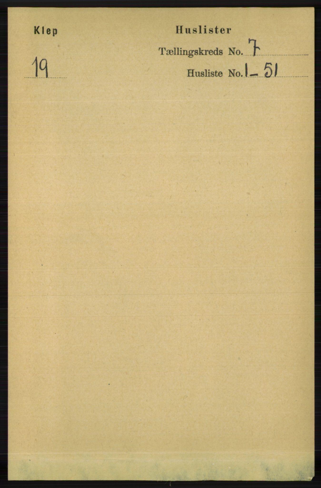 RA, Folketelling 1891 for 1120 Klepp herred, 1891, s. 2055