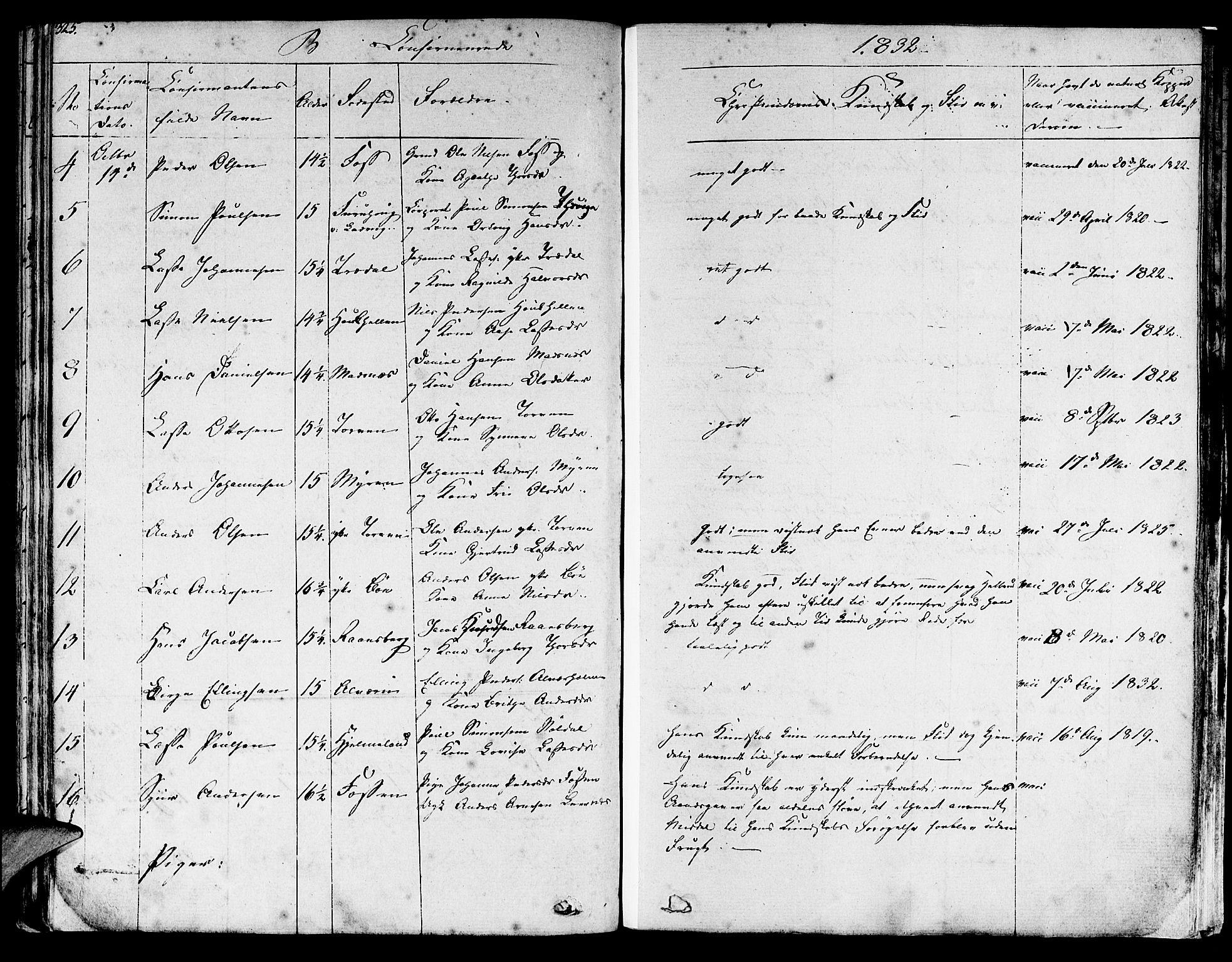 SAB, Lavik sokneprestembete, Ministerialbok nr. A 2I, 1821-1842, s. 325