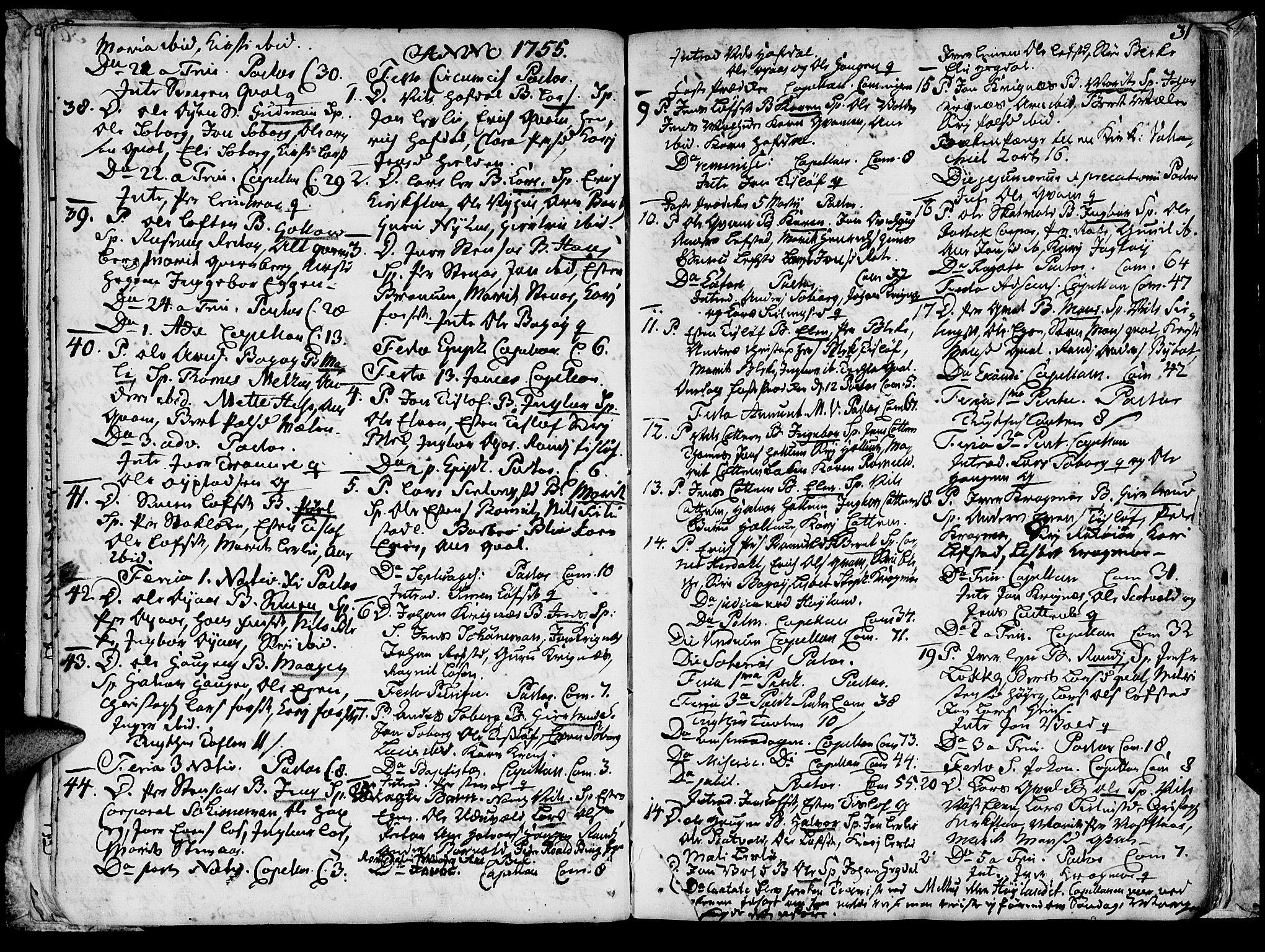 SAT, Ministerialprotokoller, klokkerbøker og fødselsregistre - Sør-Trøndelag, 691/L1057: Ministerialbok nr. 691A01 /1, 1740-1767, s. 31