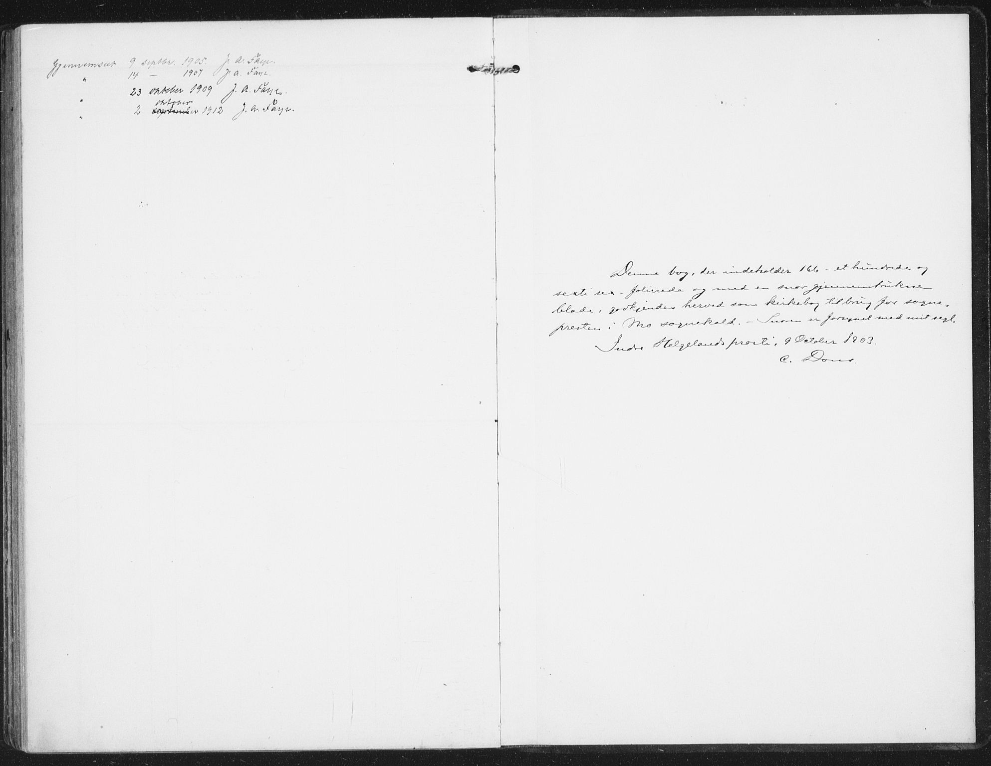 SAT, Ministerialprotokoller, klokkerbøker og fødselsregistre - Nordland, 827/L0402: Ministerialbok nr. 827A14, 1903-1912