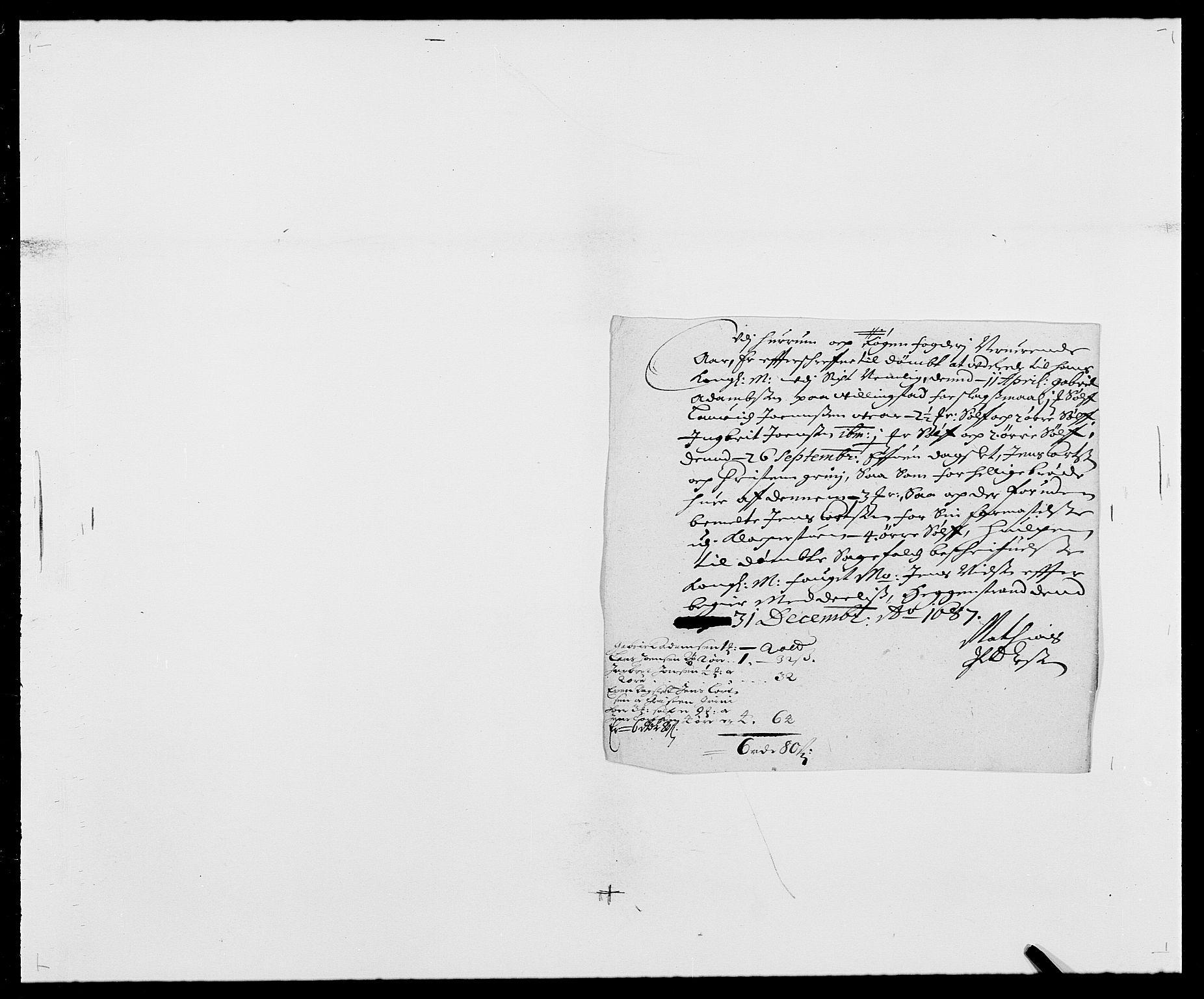 RA, Rentekammeret inntil 1814, Reviderte regnskaper, Fogderegnskap, R29/L1692: Fogderegnskap Hurum og Røyken, 1682-1687, s. 317
