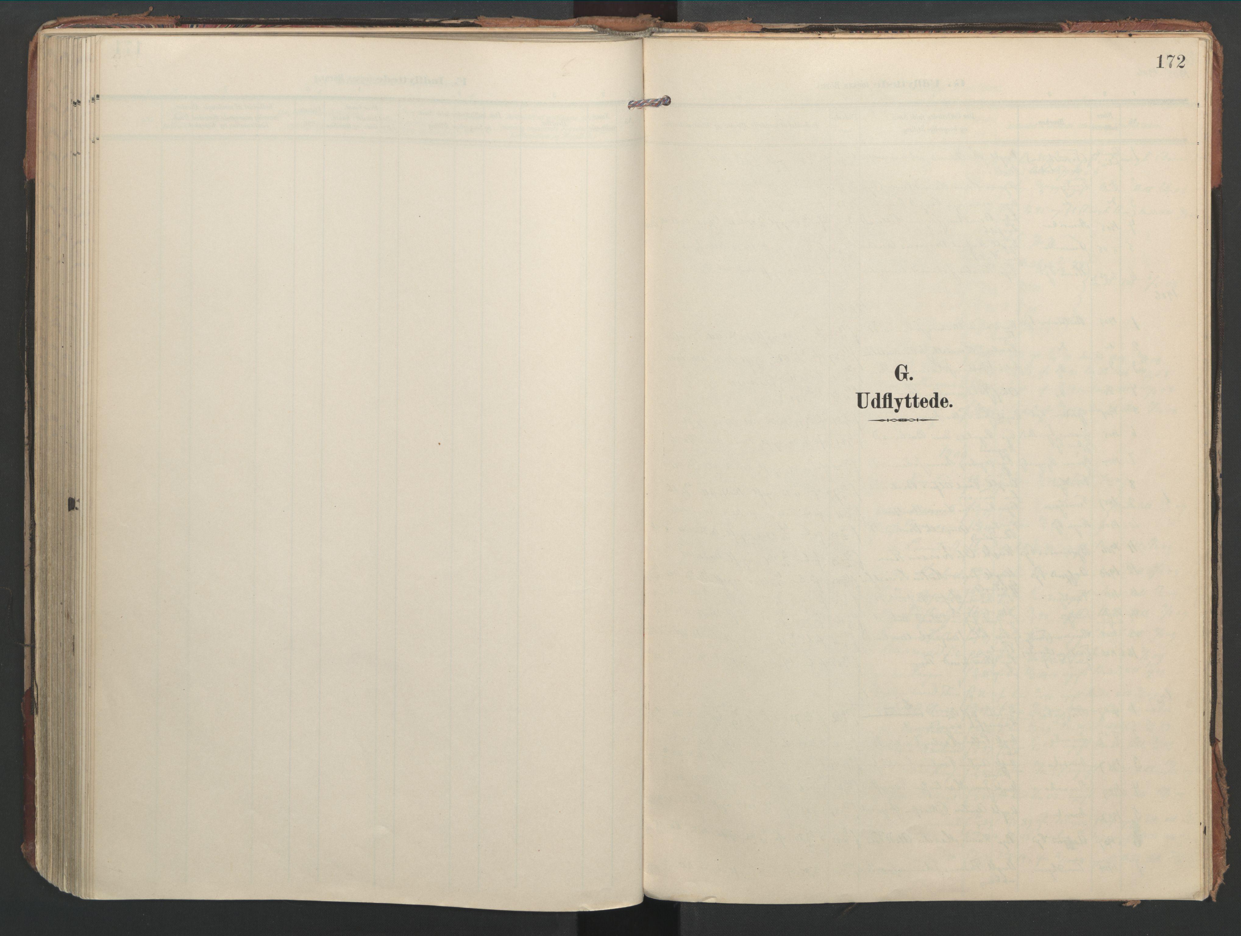 SAT, Ministerialprotokoller, klokkerbøker og fødselsregistre - Nord-Trøndelag, 744/L0421: Ministerialbok nr. 744A05, 1905-1930, s. 172