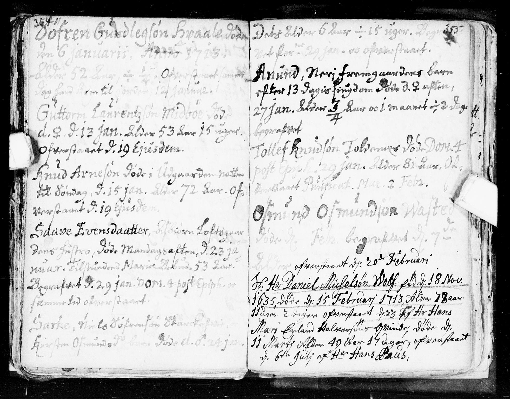SAKO, Seljord kirkebøker, F/Fa/L0002: Ministerialbok nr. I 2, 1689-1713, s. 354-355