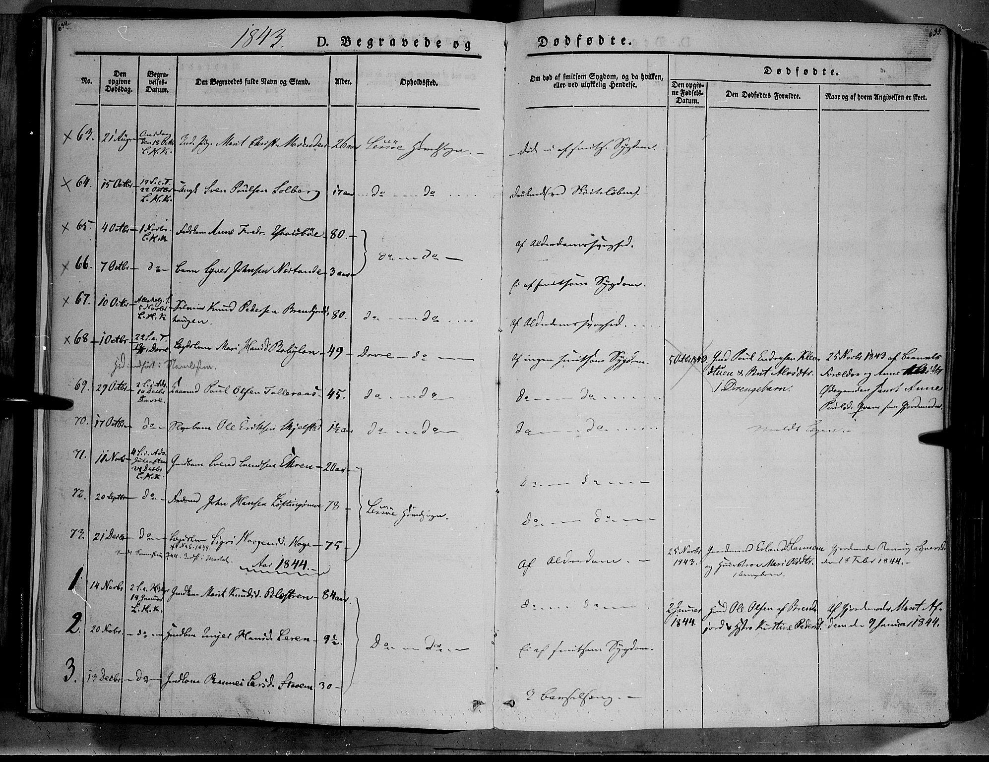 SAH, Lesja prestekontor, Ministerialbok nr. 6B, 1843-1854, s. 634-635
