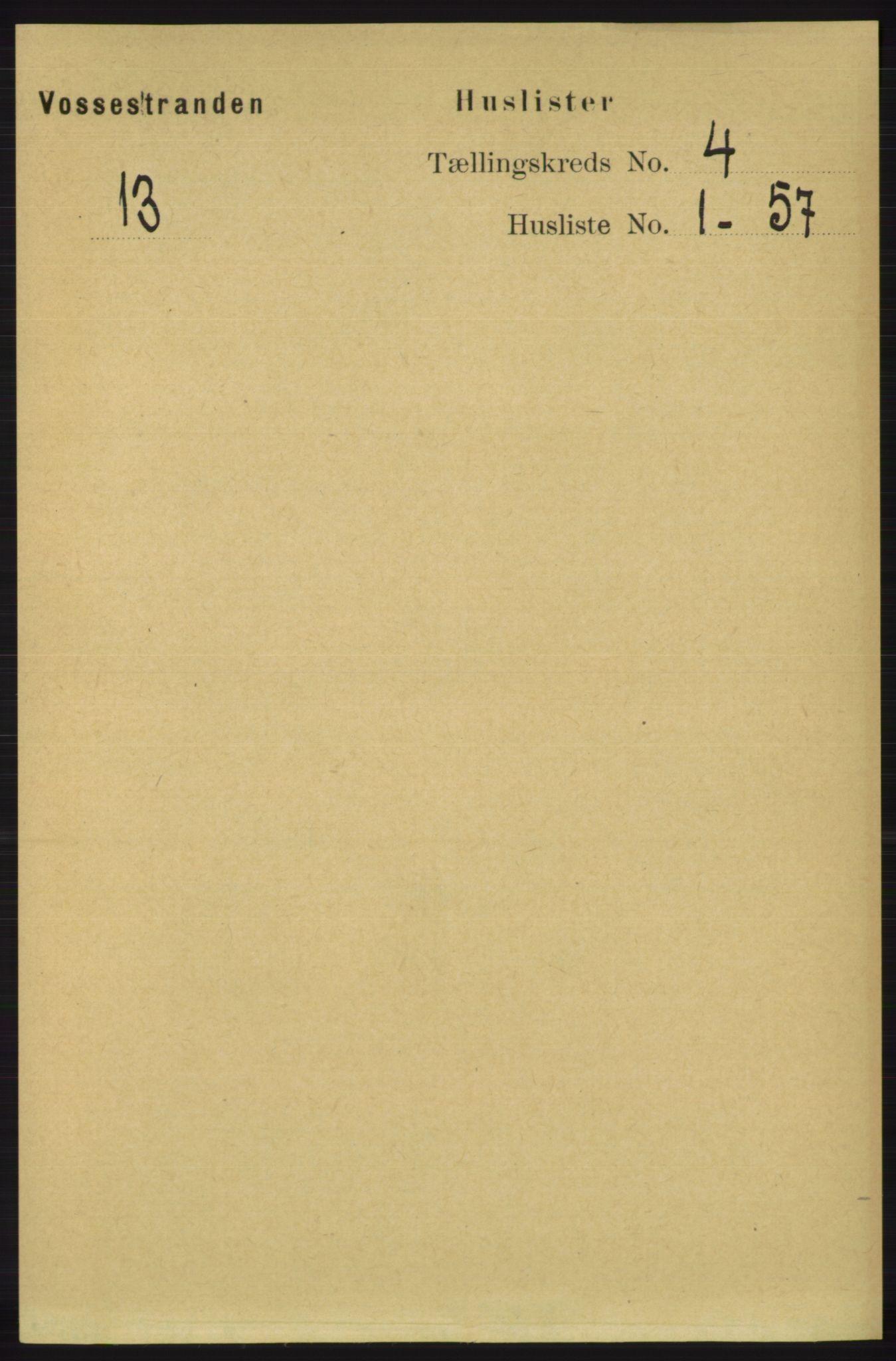 RA, Folketelling 1891 for 1236 Vossestrand herred, 1891, s. 1466