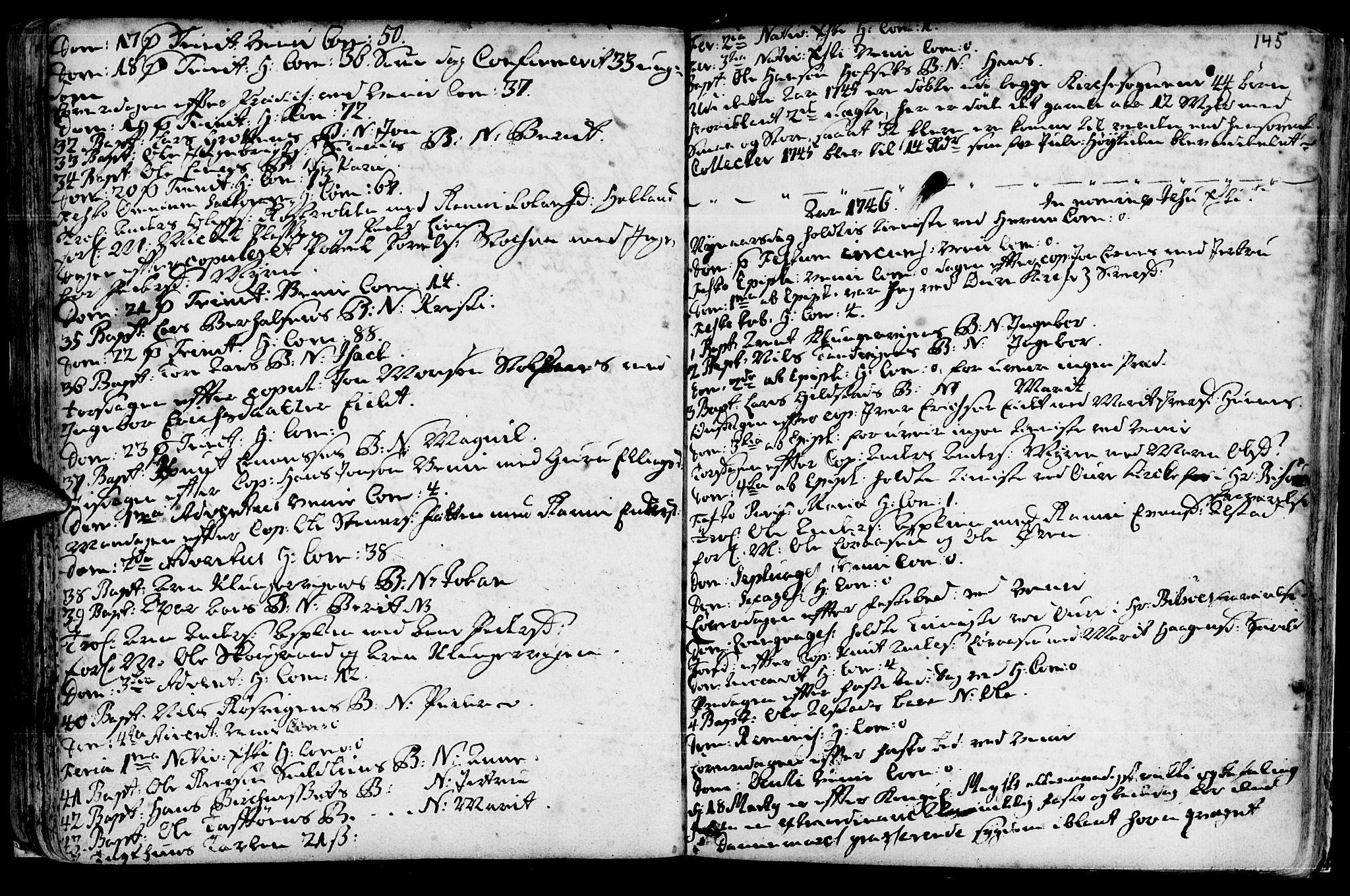 SAT, Ministerialprotokoller, klokkerbøker og fødselsregistre - Sør-Trøndelag, 630/L0488: Ministerialbok nr. 630A01, 1717-1756, s. 144-145