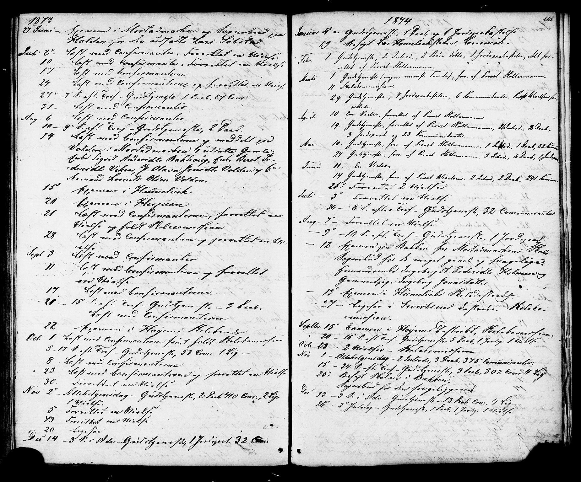 SAT, Ministerialprotokoller, klokkerbøker og fødselsregistre - Sør-Trøndelag, 616/L0409: Ministerialbok nr. 616A06, 1865-1877, s. 262