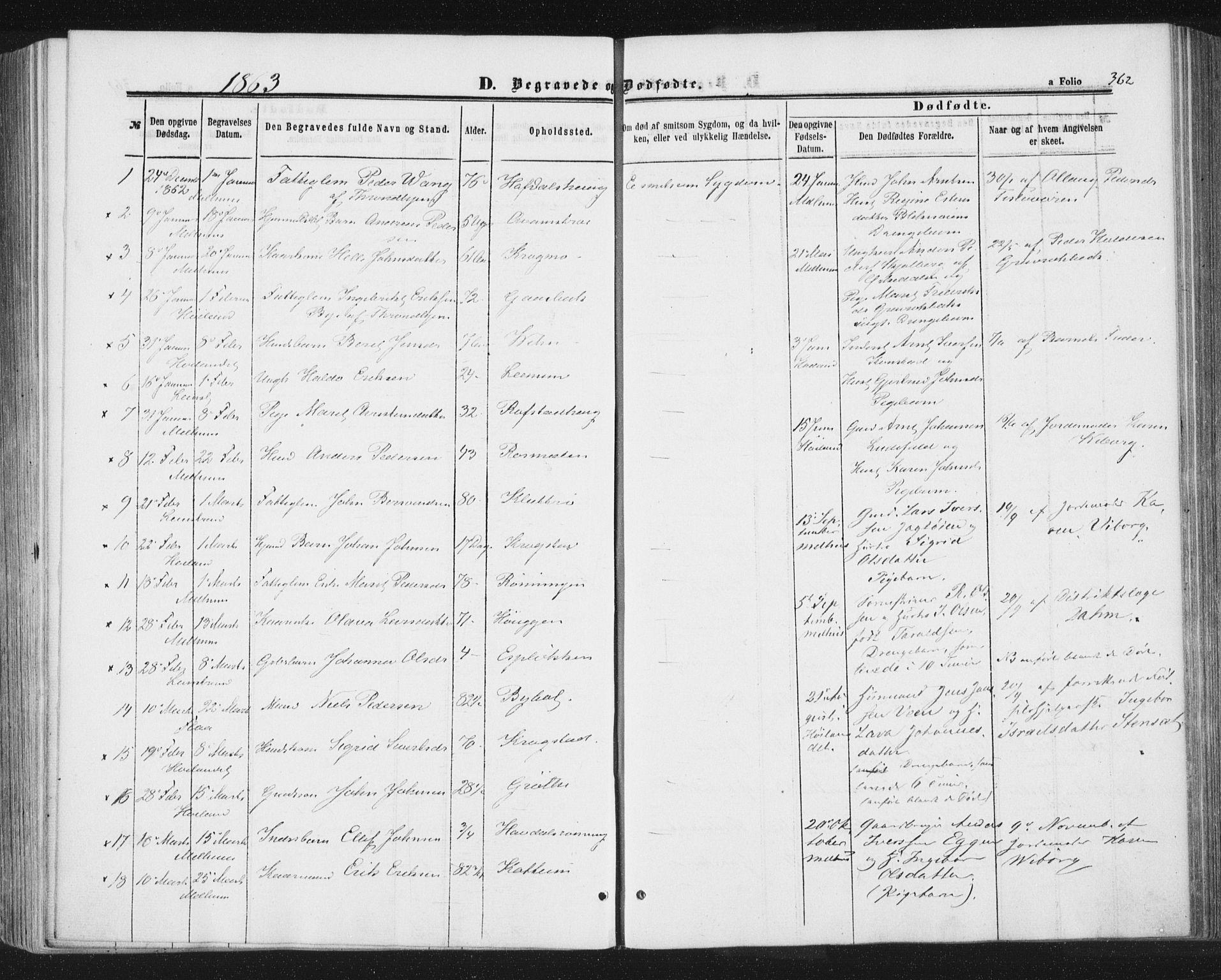 SAT, Ministerialprotokoller, klokkerbøker og fødselsregistre - Sør-Trøndelag, 691/L1077: Ministerialbok nr. 691A09, 1862-1873, s. 362