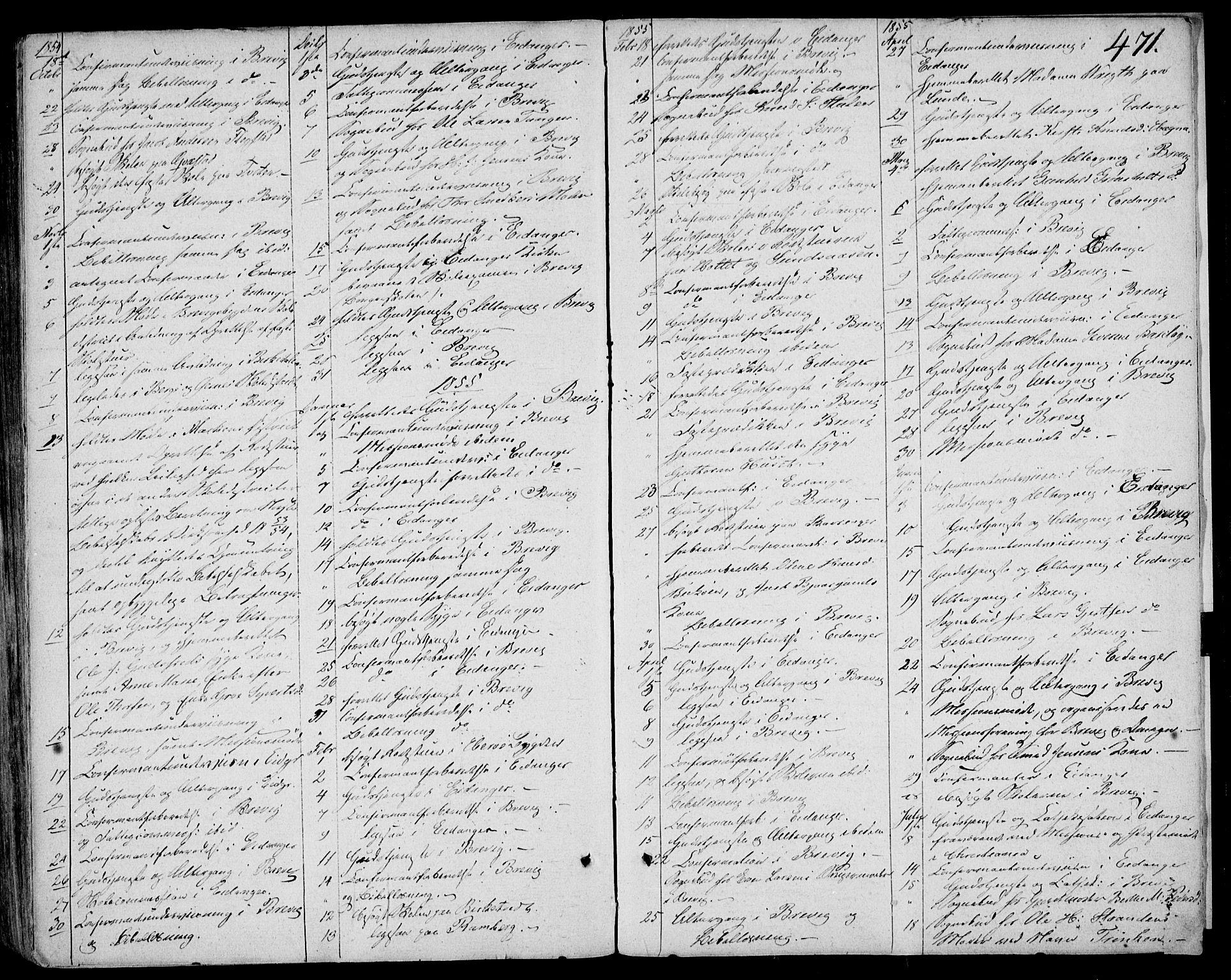 SAKO, Eidanger kirkebøker, F/Fa/L0008: Ministerialbok nr. 8, 1831-1858, s. 471