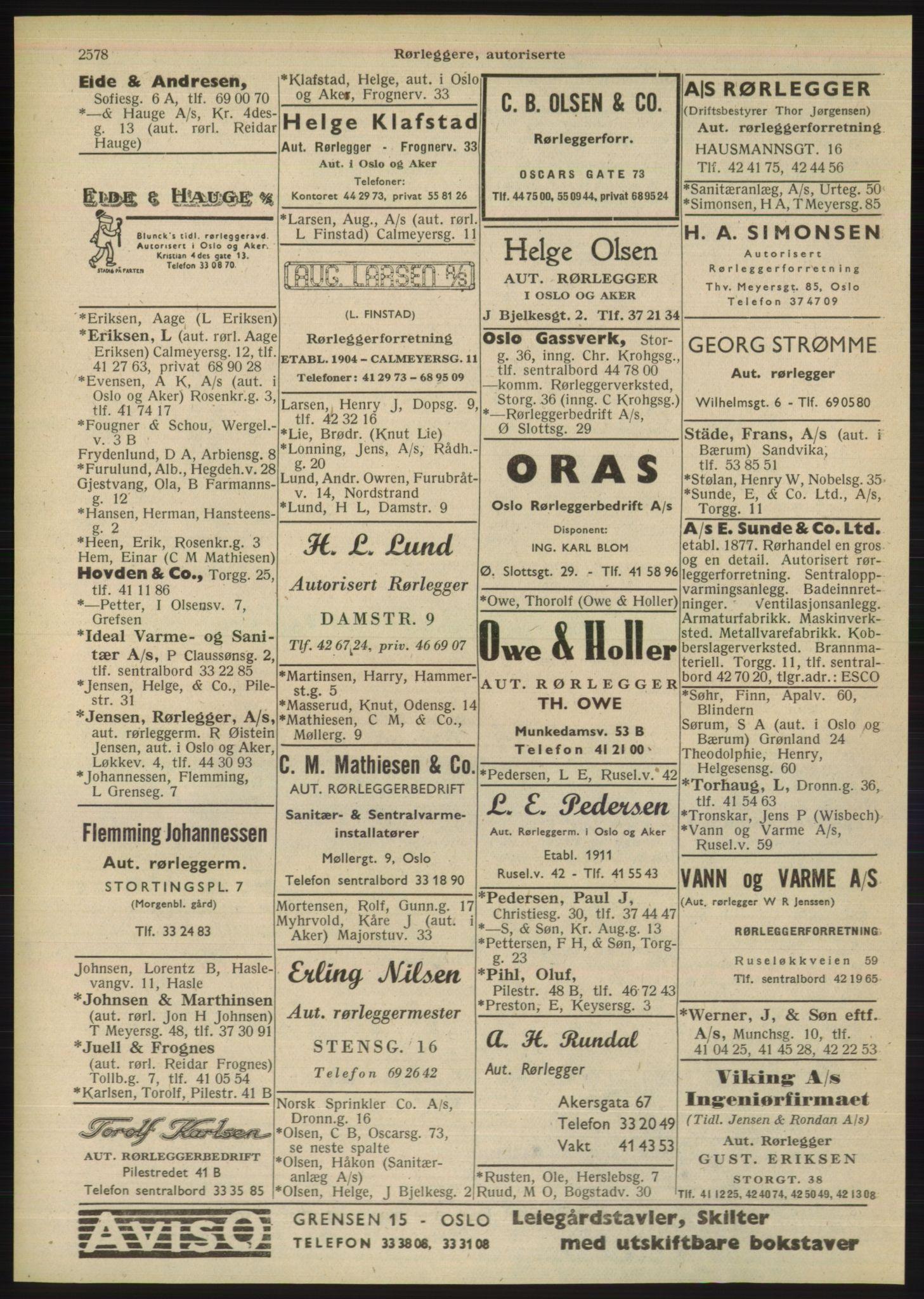 PUBL, Kristiania/Oslo adressebok, 1948, s. 2578