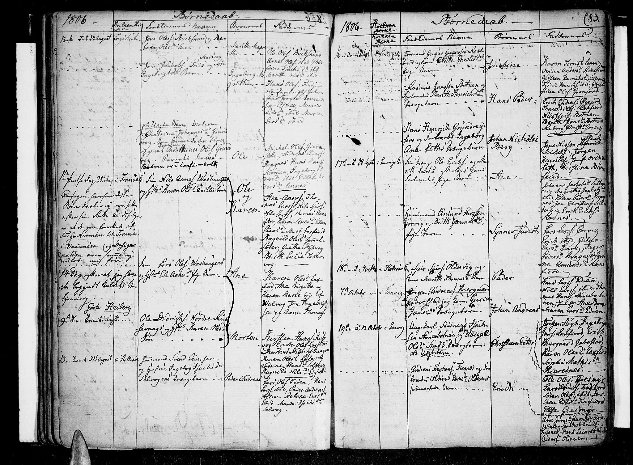 SATØ, Lenvik sokneprestembete, H/Ha/Haa/L0002kirke: Ministerialbok nr. 2, 1784-1820, s. 83