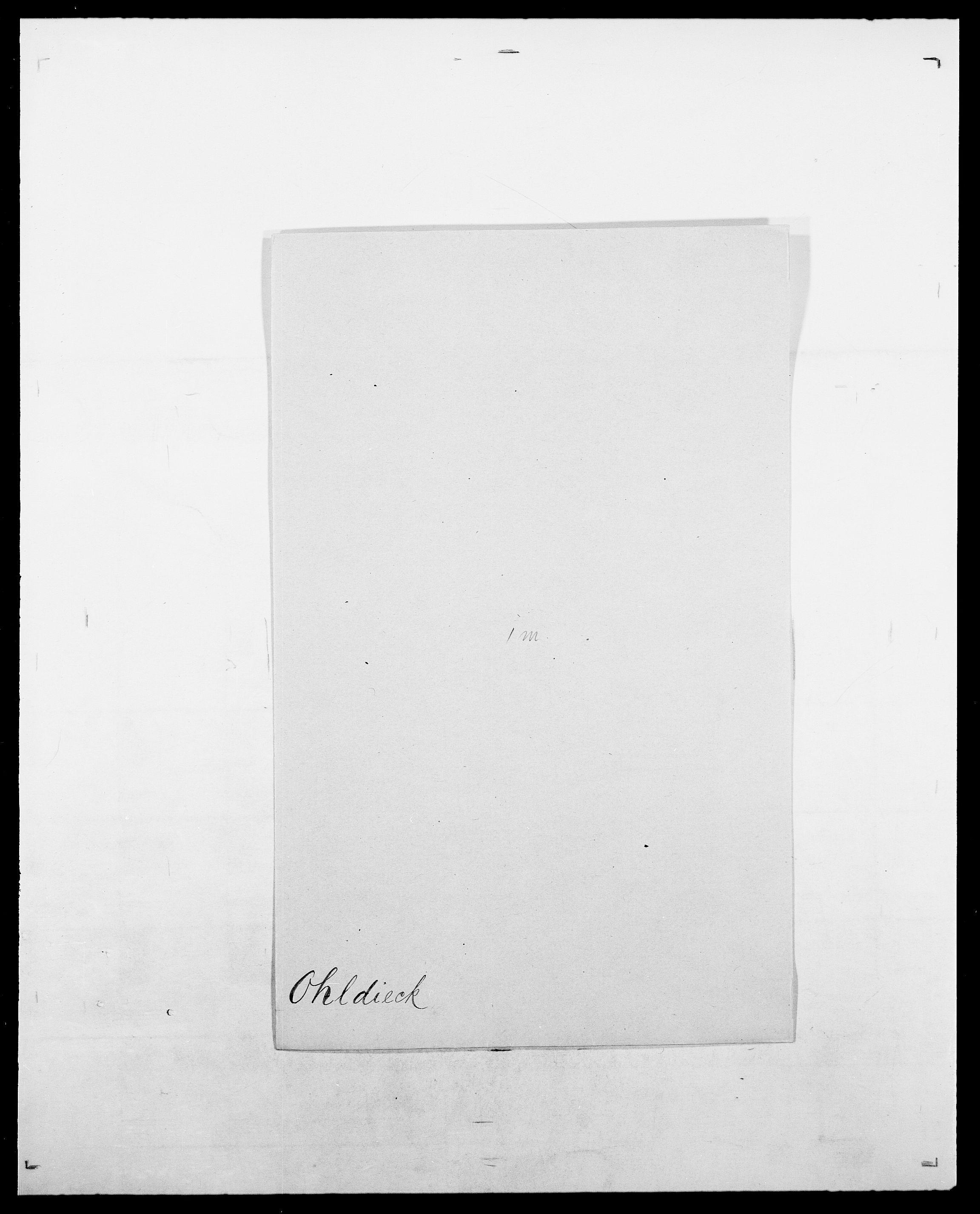 SAO, Delgobe, Charles Antoine - samling, D/Da/L0029: Obel - Oxholm, s. 63