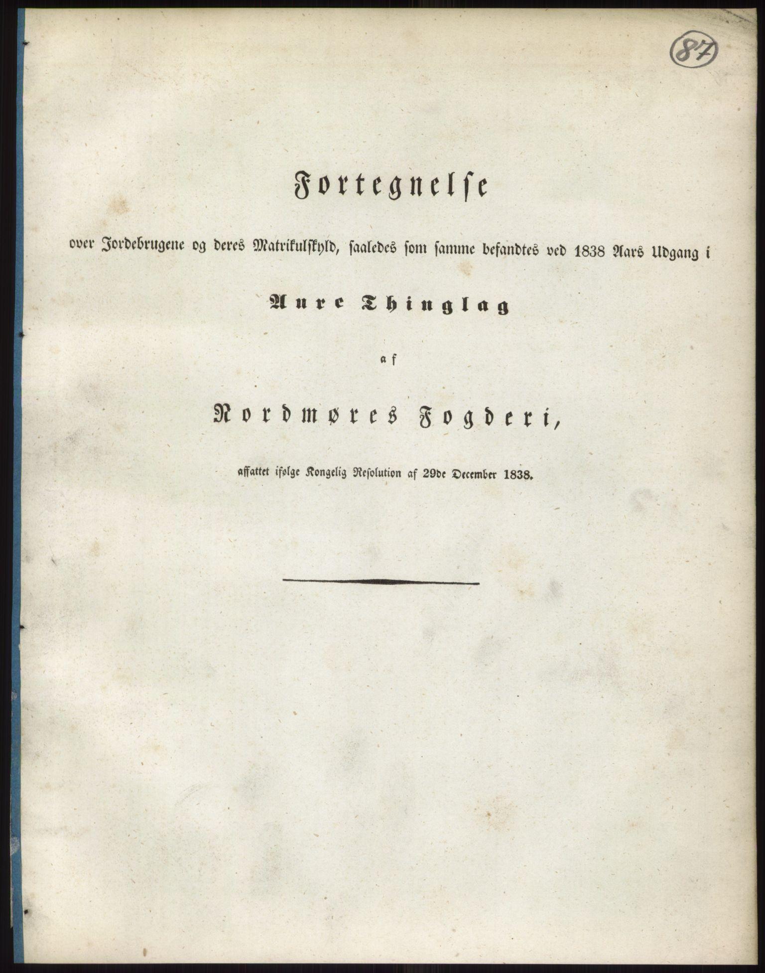 RA, 1838-matrikkelen (publikasjon)*, 1838, s. 87