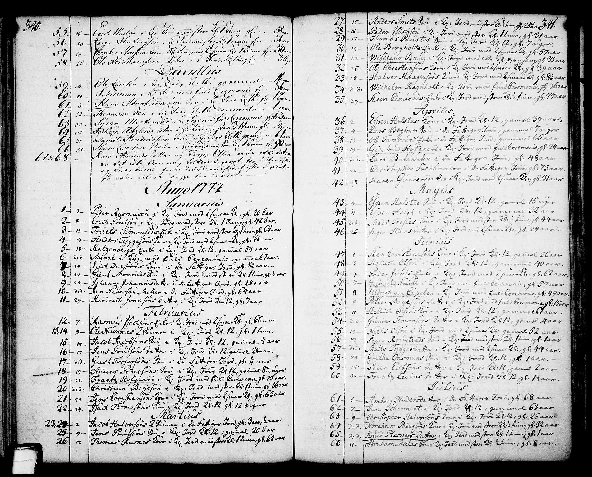 SAKO, Skien kirkebøker, F/Fa/L0003: Ministerialbok nr. 3, 1755-1791, s. 340-341