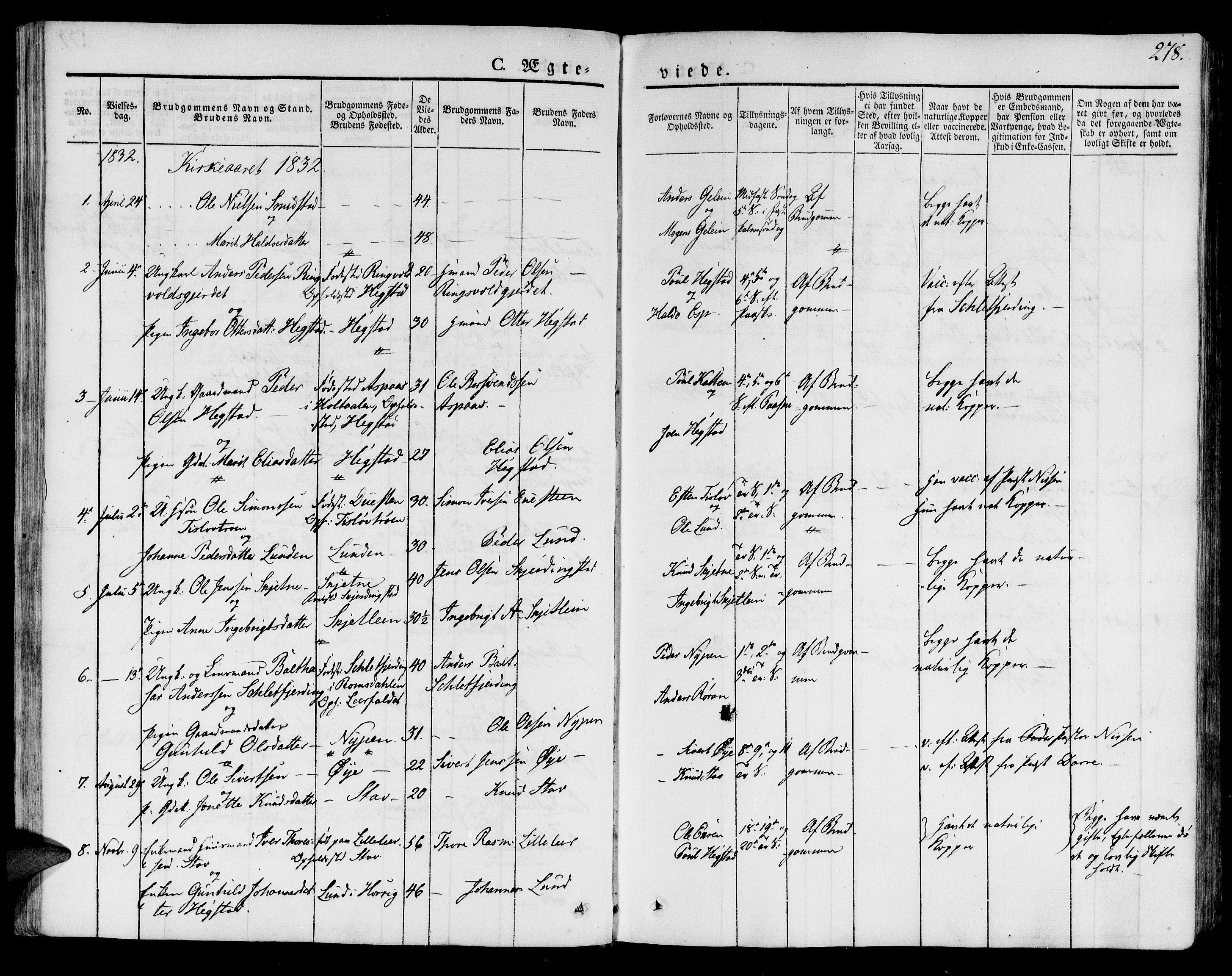 SAT, Ministerialprotokoller, klokkerbøker og fødselsregistre - Sør-Trøndelag, 691/L1071: Ministerialbok nr. 691A05 /2, 1826-1841, s. 278