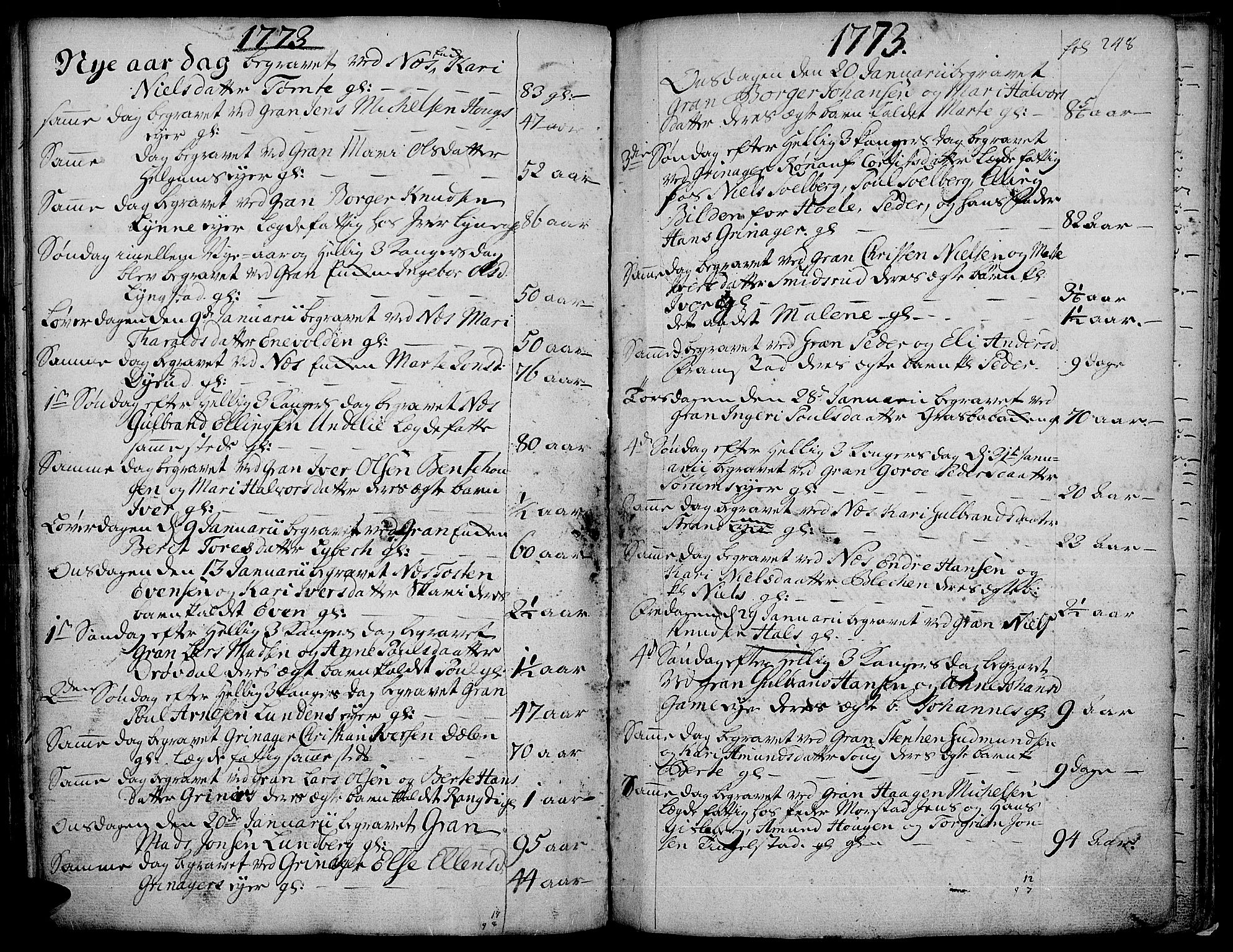 SAH, Gran prestekontor, Ministerialbok nr. 4, 1759-1775, s. 248