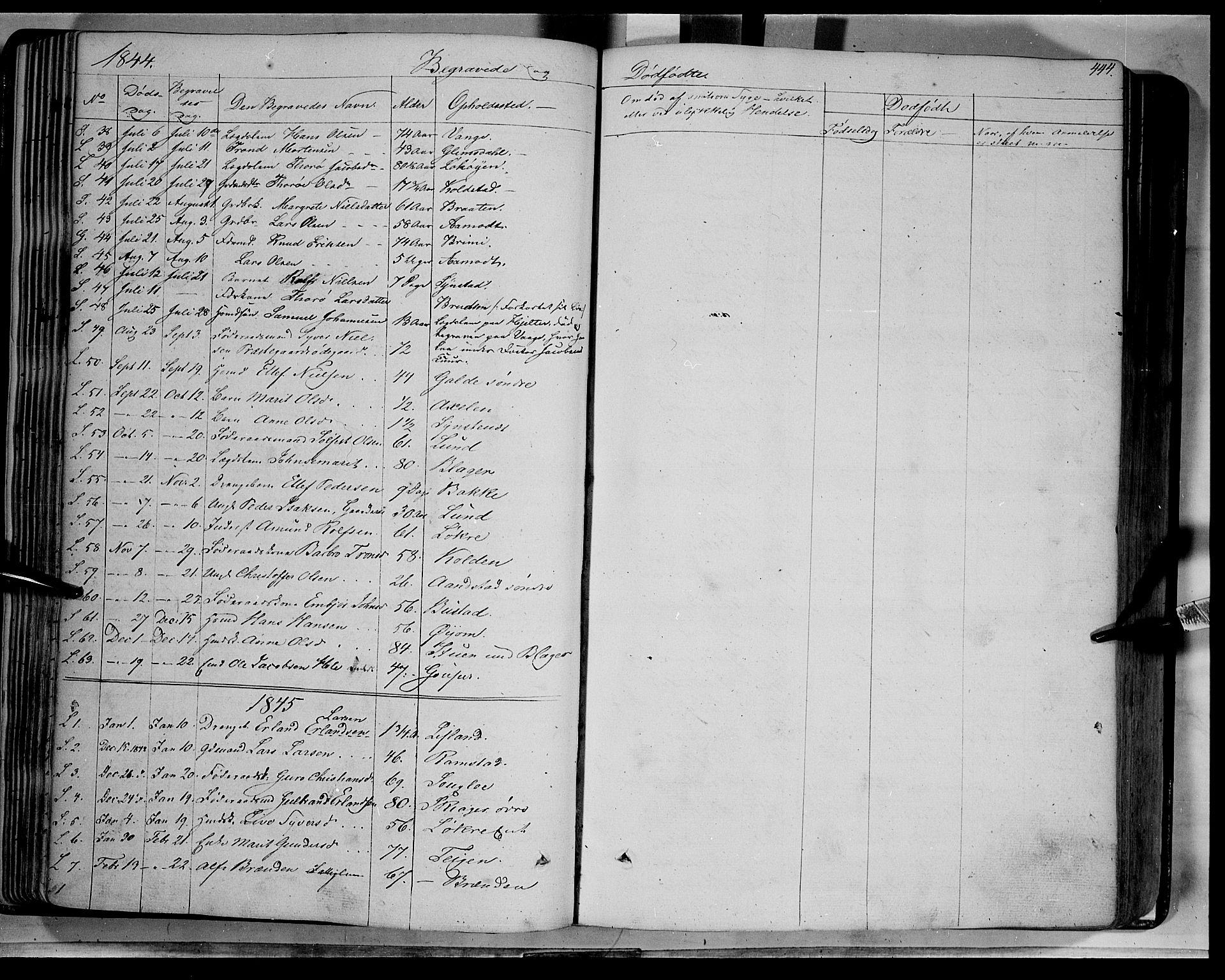 SAH, Lom prestekontor, K/L0006: Ministerialbok nr. 6B, 1837-1863, s. 444