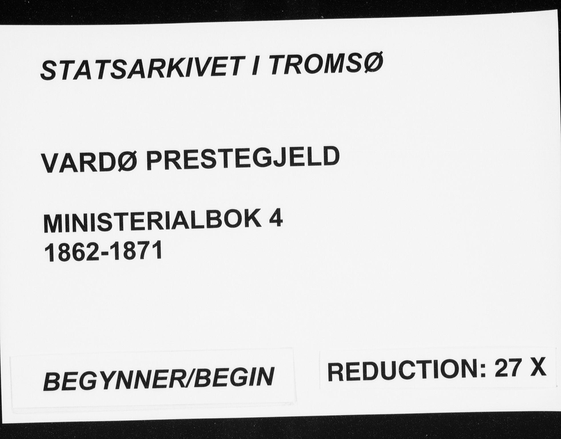SATØ, Vardø sokneprestkontor, H/Ha/L0004kirke: Ministerialbok nr. 4, 1862-1871