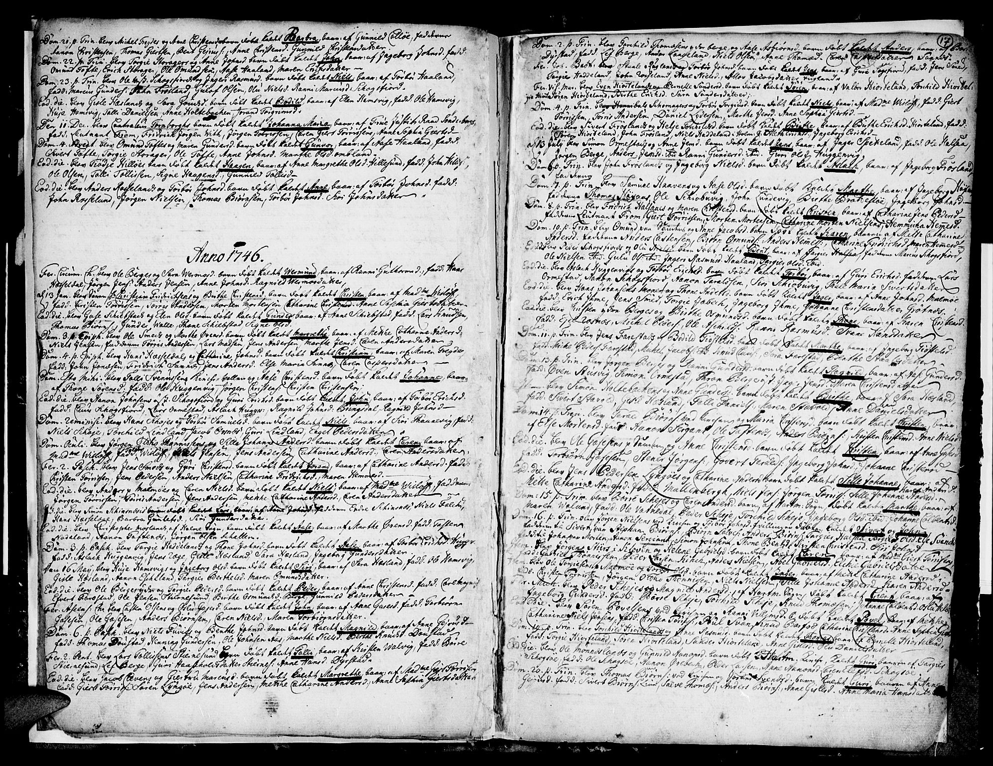 SAK, Mandal sokneprestkontor, F/Fa/Faa/L0001: Ministerialbok nr. A 1, 1729-1748, s. 17