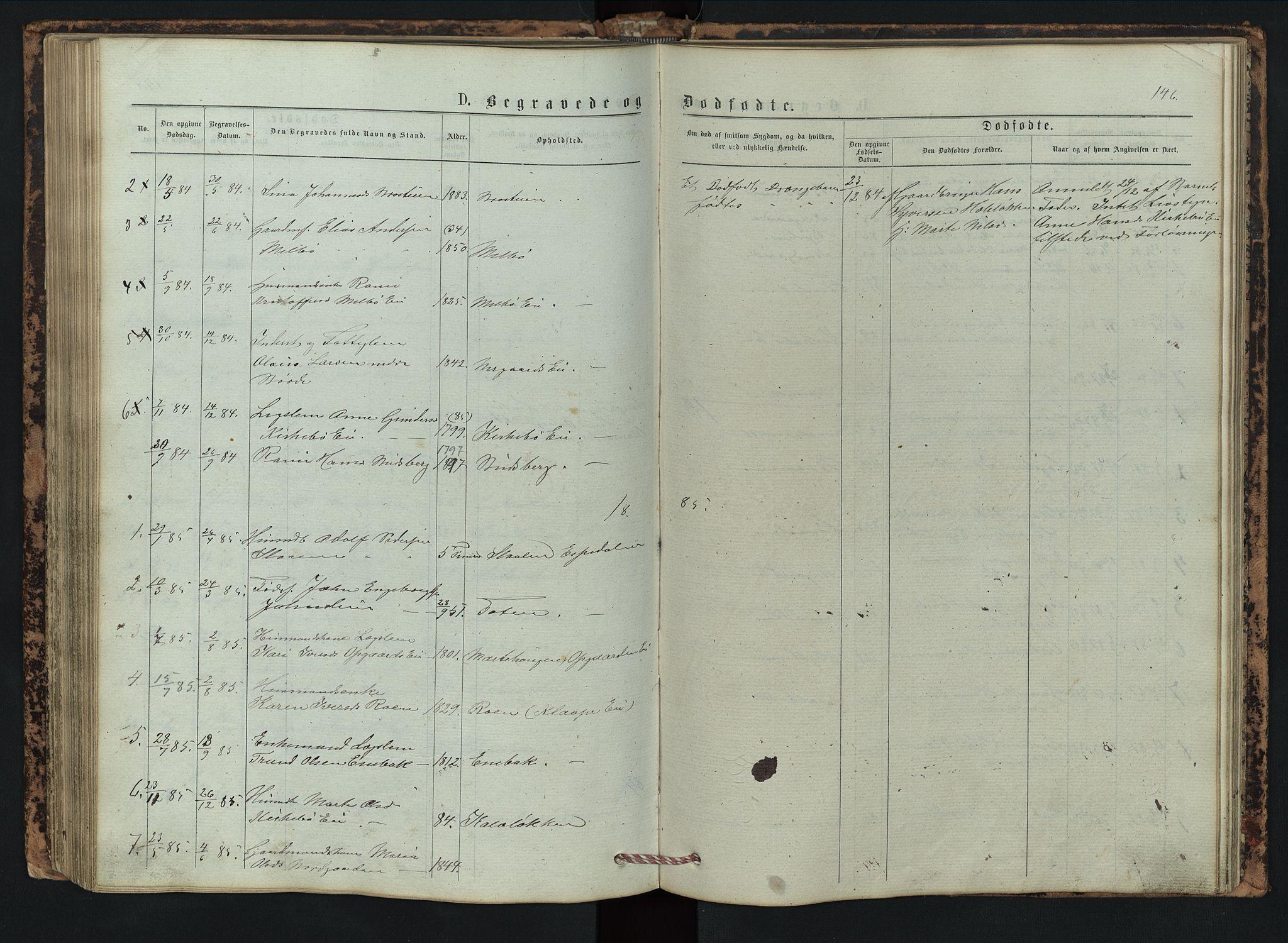 SAH, Vestre Gausdal prestekontor, Klokkerbok nr. 2, 1874-1897, s. 146
