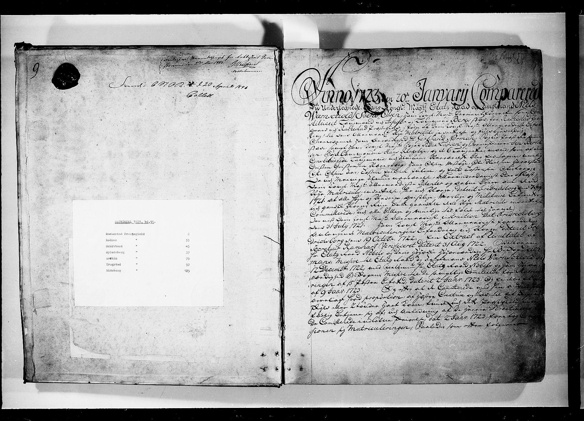 RA, Rentekammeret inntil 1814, Realistisk ordnet avdeling, N/Nb/Nbf/L0099: Rakkestad, Heggen og Frøland eksaminasjonsprotokoll, 1723, s. upaginert