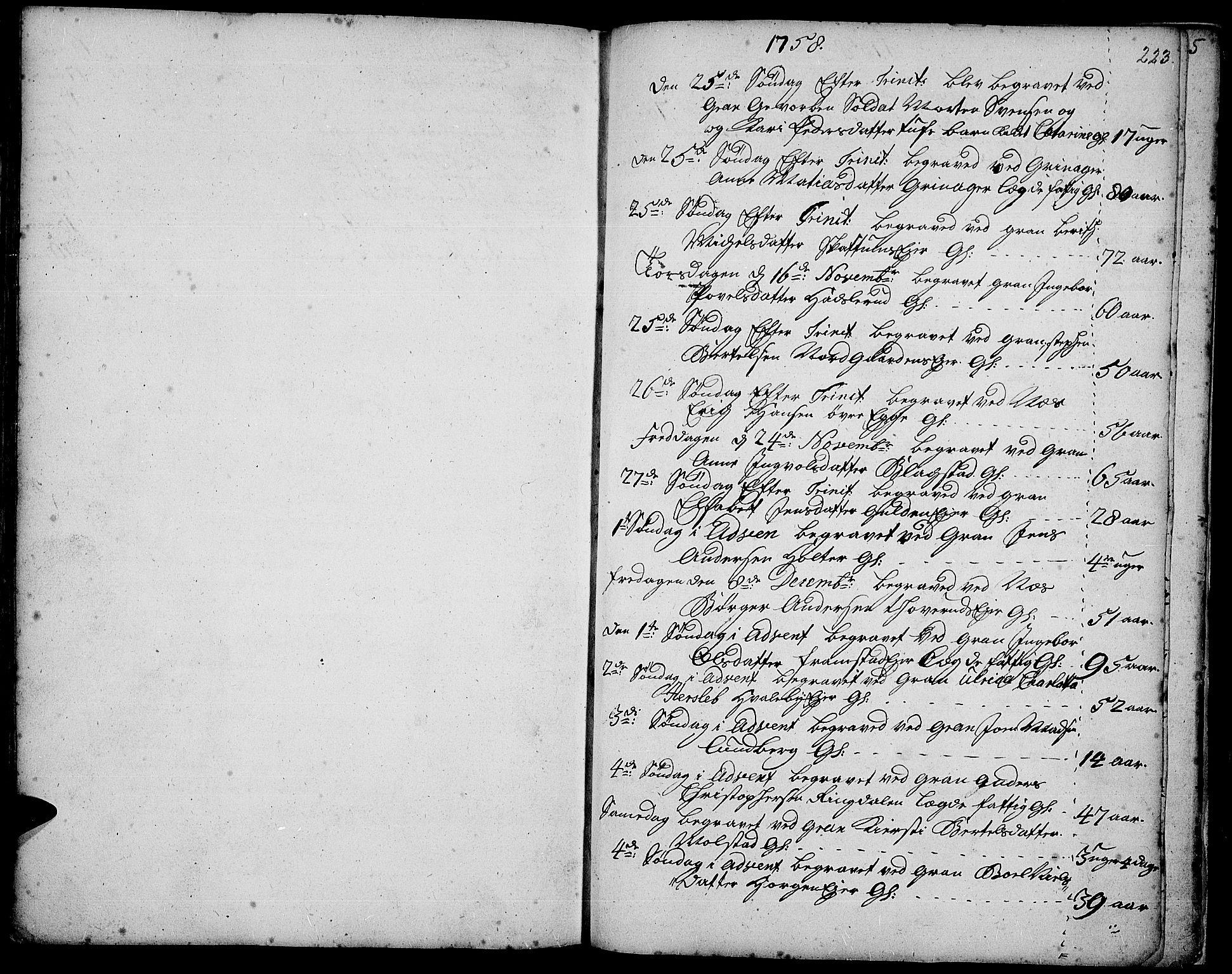 SAH, Gran prestekontor, Ministerialbok nr. 3, 1745-1758, s. 223
