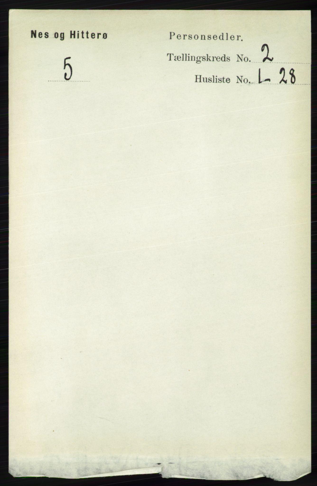 RA, Folketelling 1891 for 1043 Hidra og Nes herred, 1891, s. 533