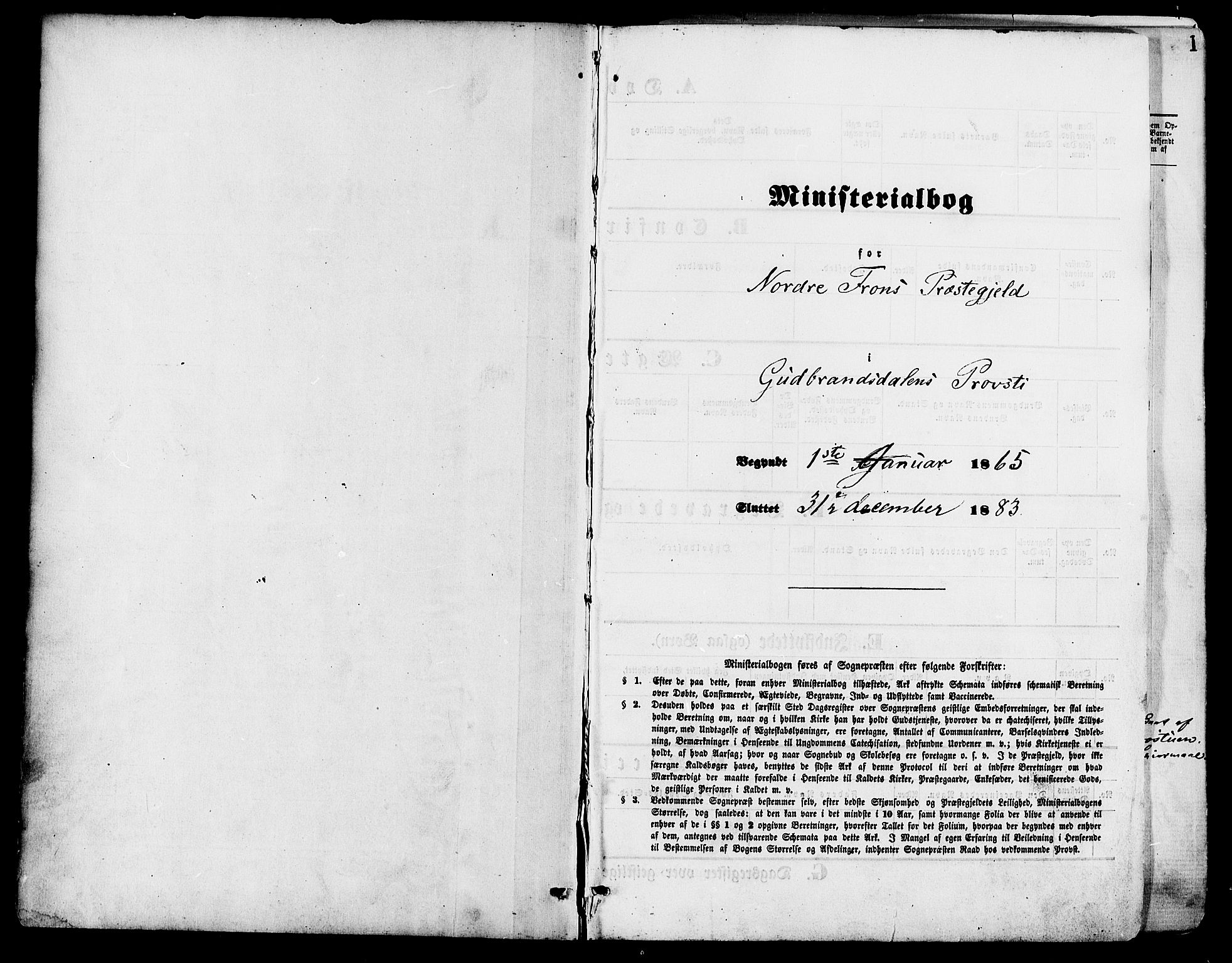 SAH, Nord-Fron prestekontor, Ministerialbok nr. 2, 1865-1883