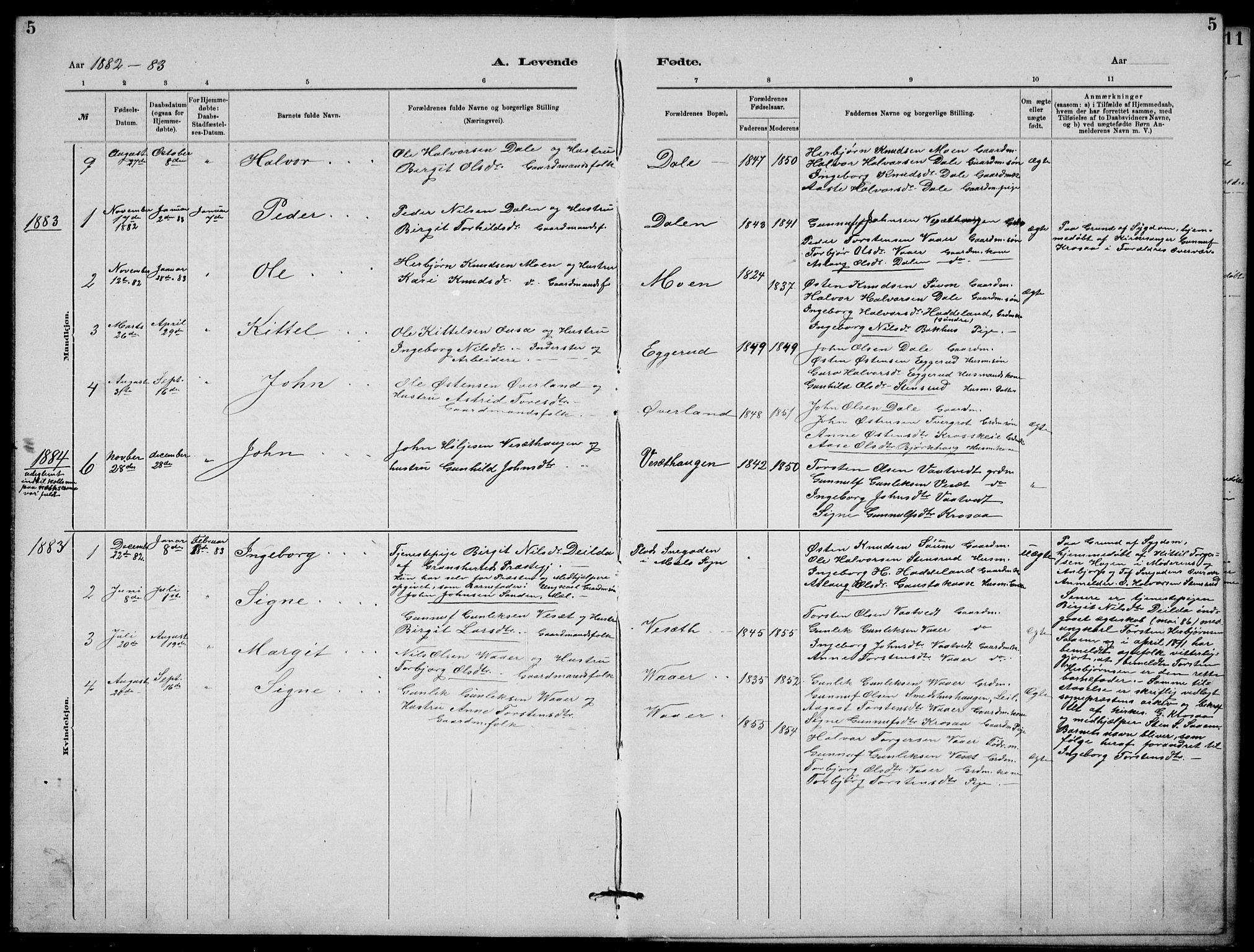SAKO, Rjukan kirkebøker, G/Ga/L0001: Klokkerbok nr. 1, 1880-1914, s. 5