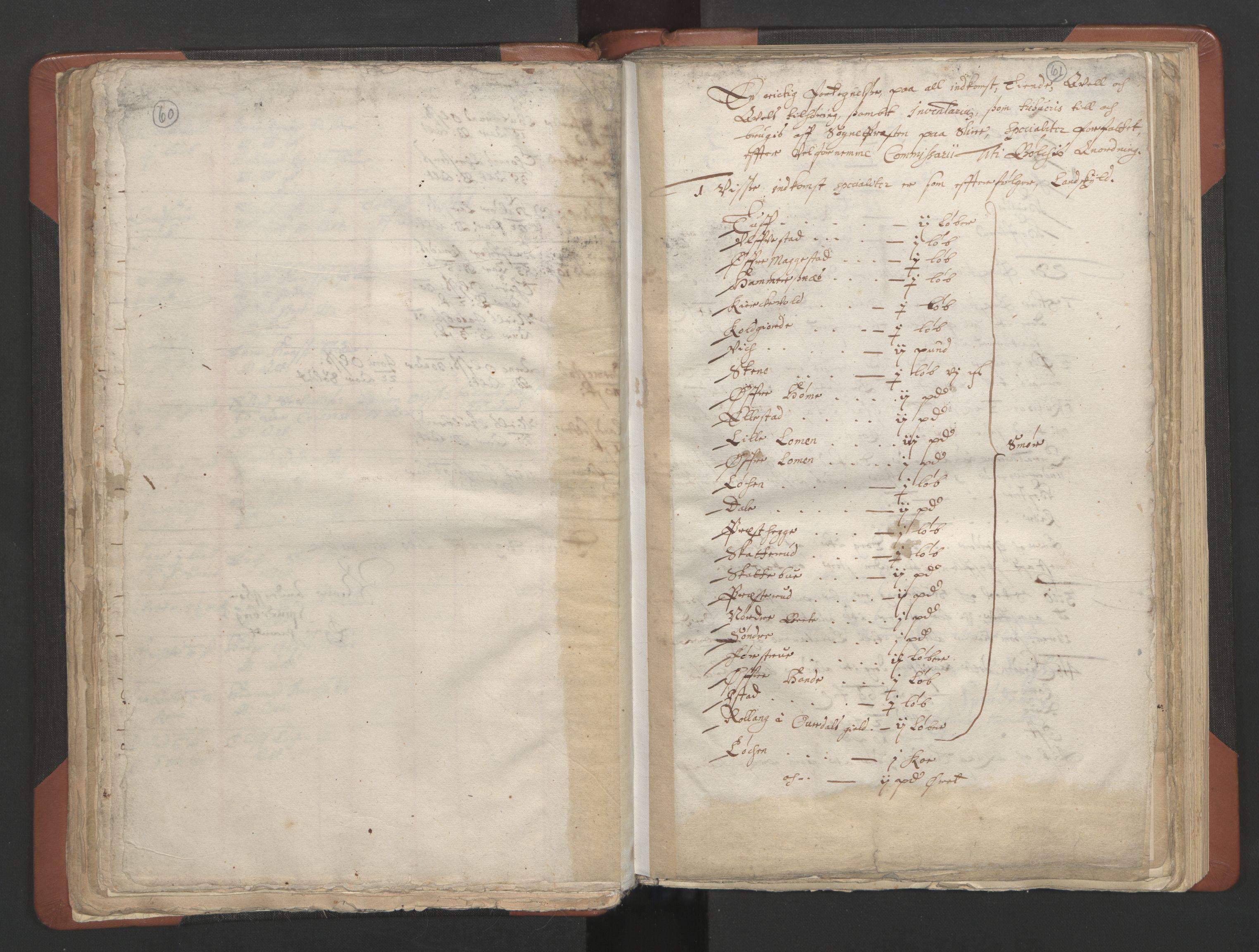 RA, Sogneprestenes manntall 1664-1666, nr. 8: Valdres prosti, 1664-1666, s. 60-61