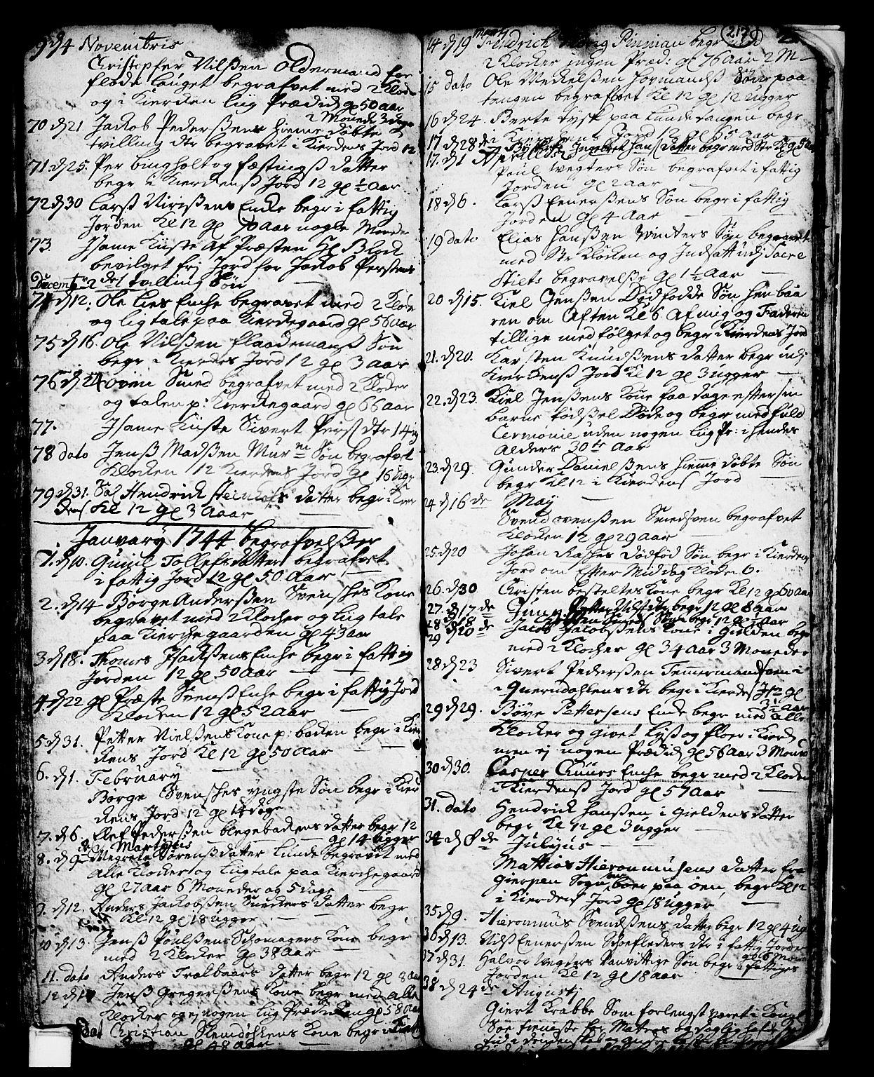 SAKO, Skien kirkebøker, F/Fa/L0002: Ministerialbok nr. 2, 1716-1757, s. 217