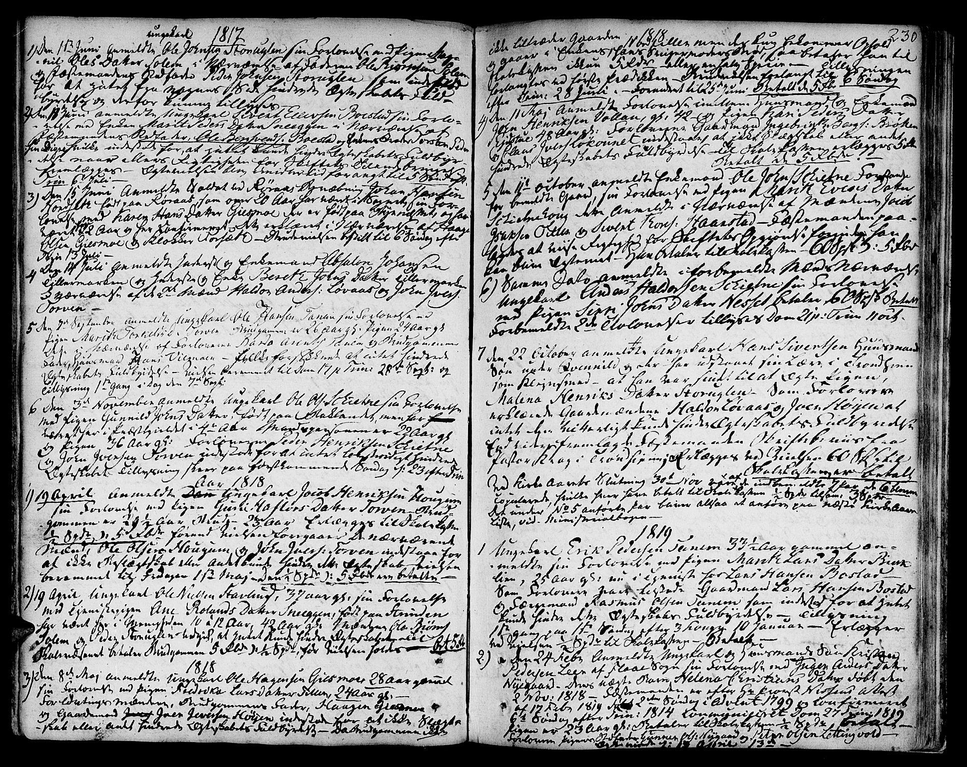 SAT, Ministerialprotokoller, klokkerbøker og fødselsregistre - Sør-Trøndelag, 618/L0438: Ministerialbok nr. 618A03, 1783-1815, s. 230