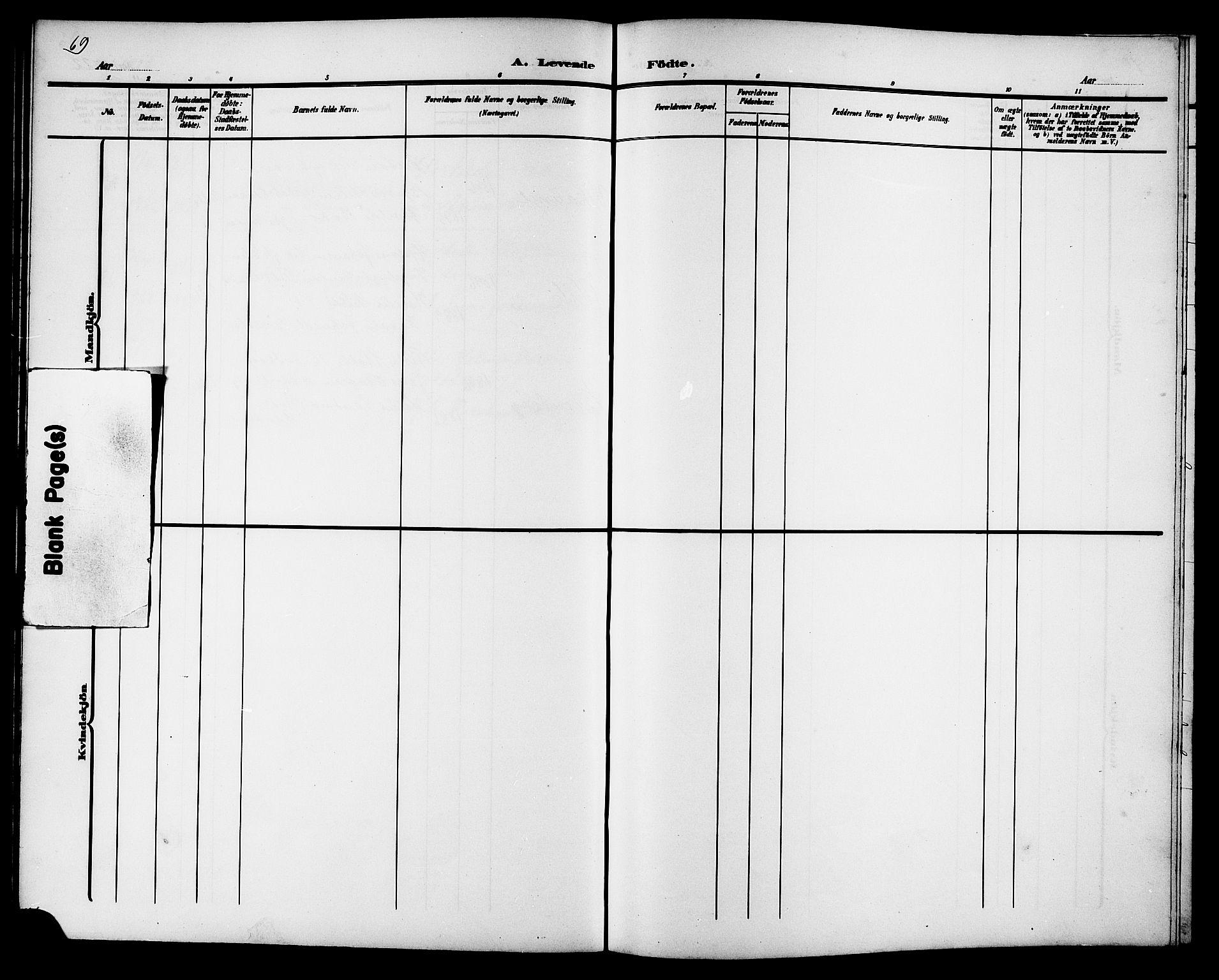SAT, Ministerialprotokoller, klokkerbøker og fødselsregistre - Sør-Trøndelag, 657/L0717: Klokkerbok nr. 657C04, 1904-1923, s. 69