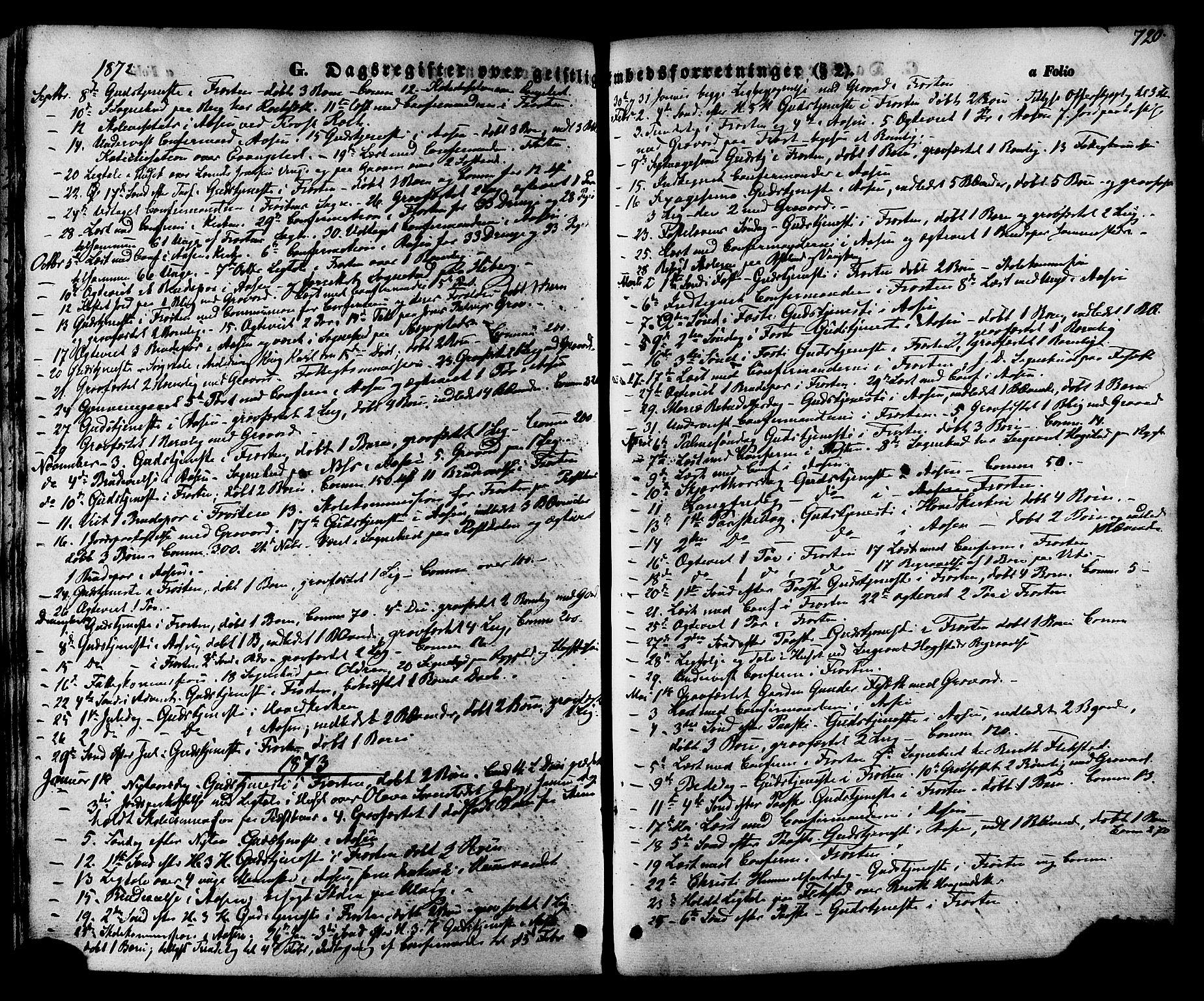 SAT, Ministerialprotokoller, klokkerbøker og fødselsregistre - Nord-Trøndelag, 713/L0116: Ministerialbok nr. 713A07 /1, 1850-1877, s. 720