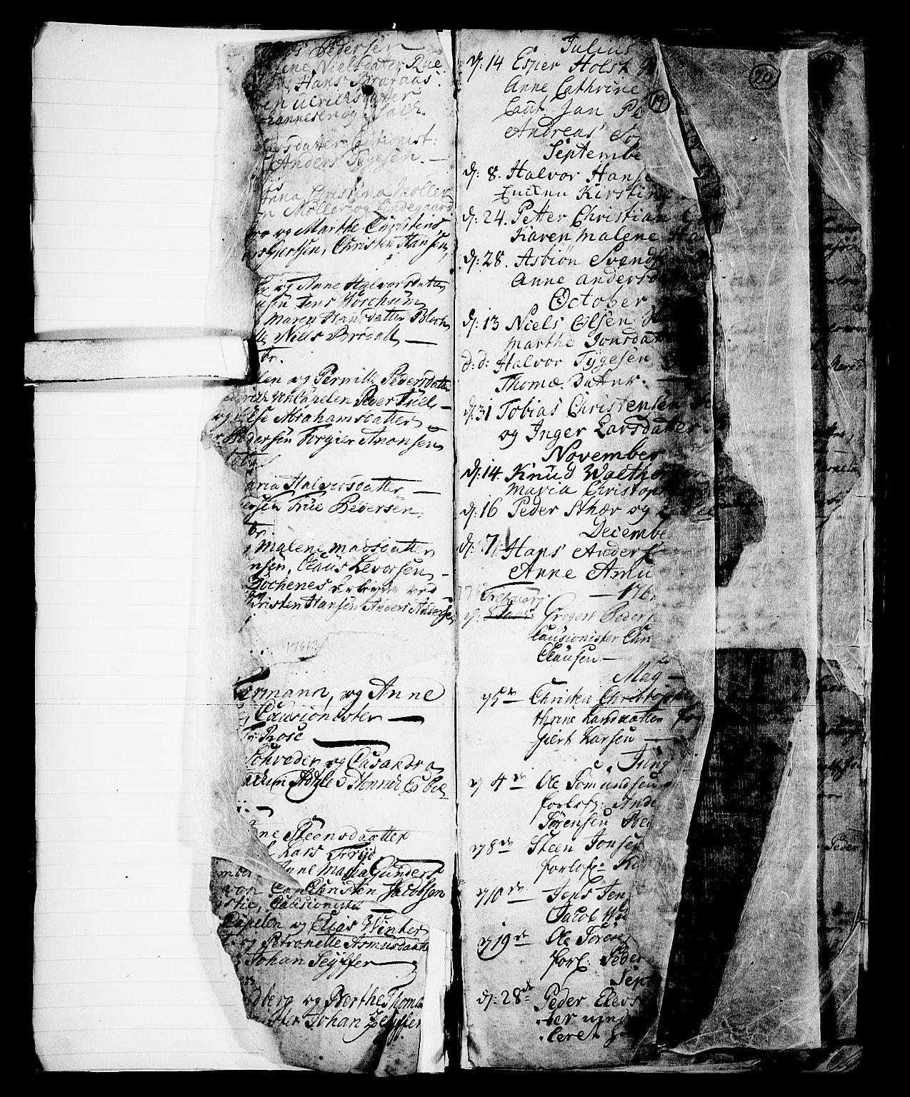 SAKO, Skien kirkebøker, G/Ga/L0001: Klokkerbok nr. 1, 1756-1791, s. 19
